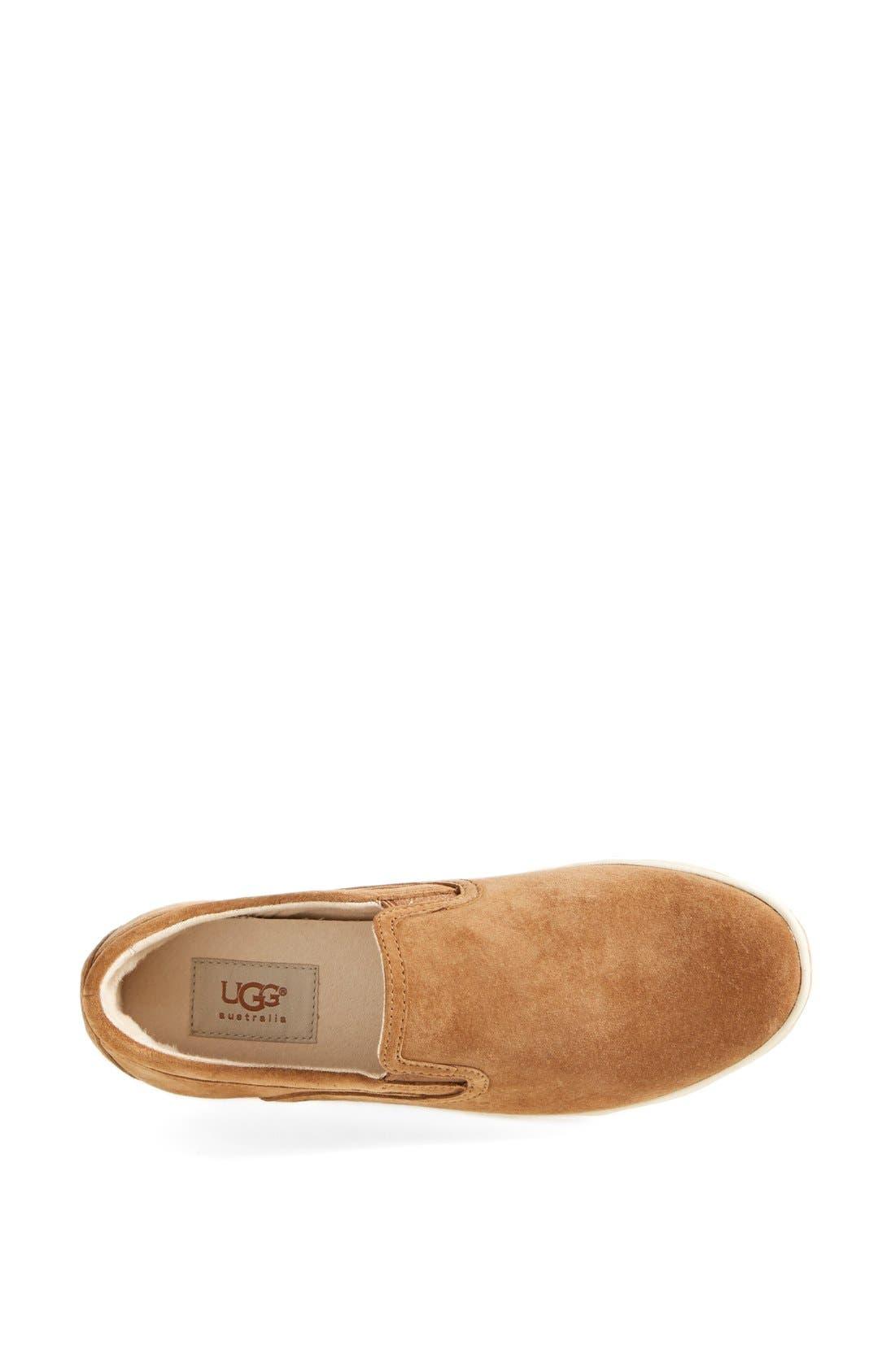 UGG<SUP>®</SUP>, Fierce Water Resistant Suede Slip-On Sneaker, Alternate thumbnail 3, color, 219