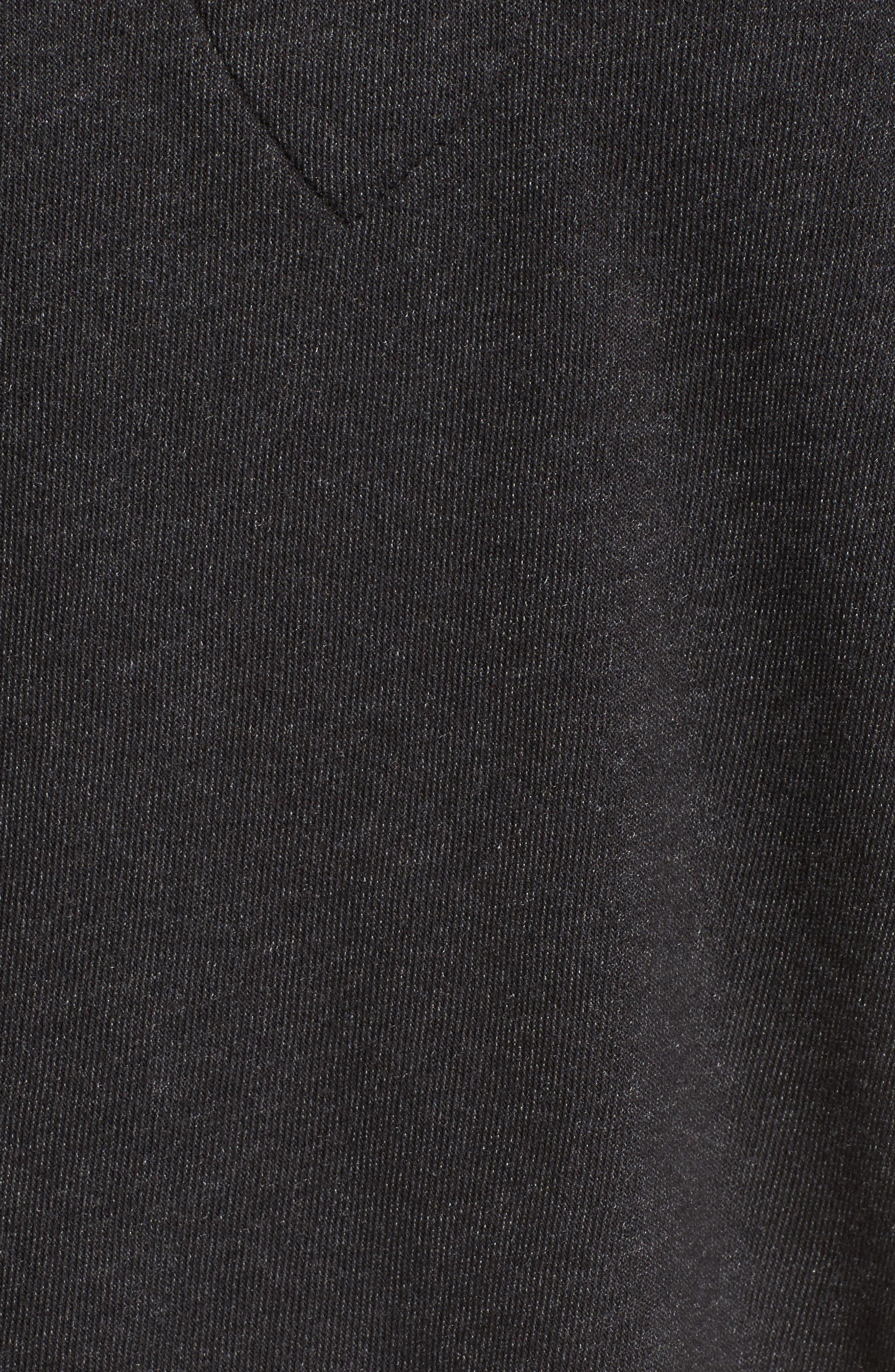 WILDFOX, Hutton Sweatshirt, Alternate thumbnail 5, color, 001