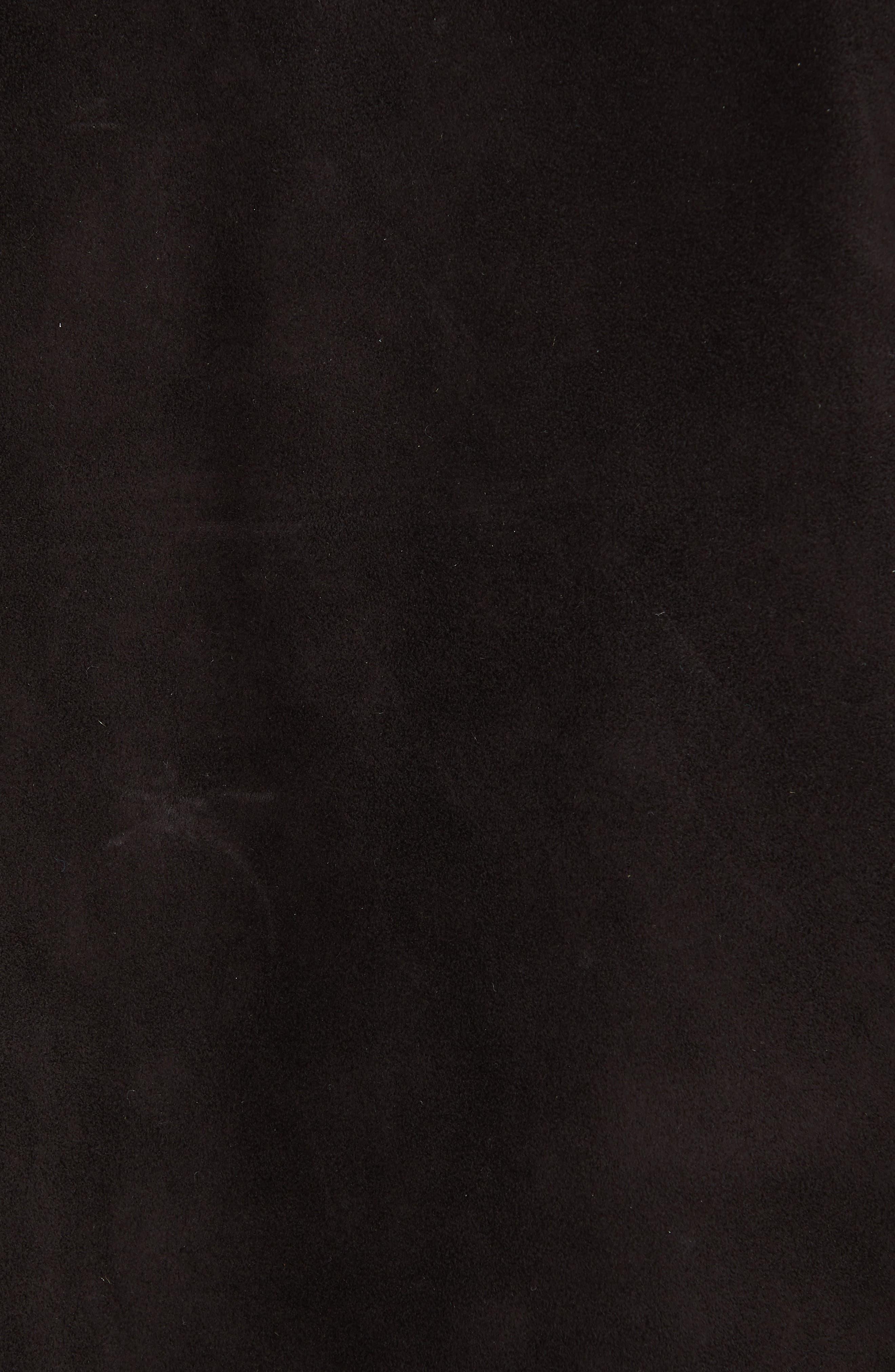 JOHN VARVATOS, Suede Flight Jacket, Alternate thumbnail 5, color, ESPRESSO