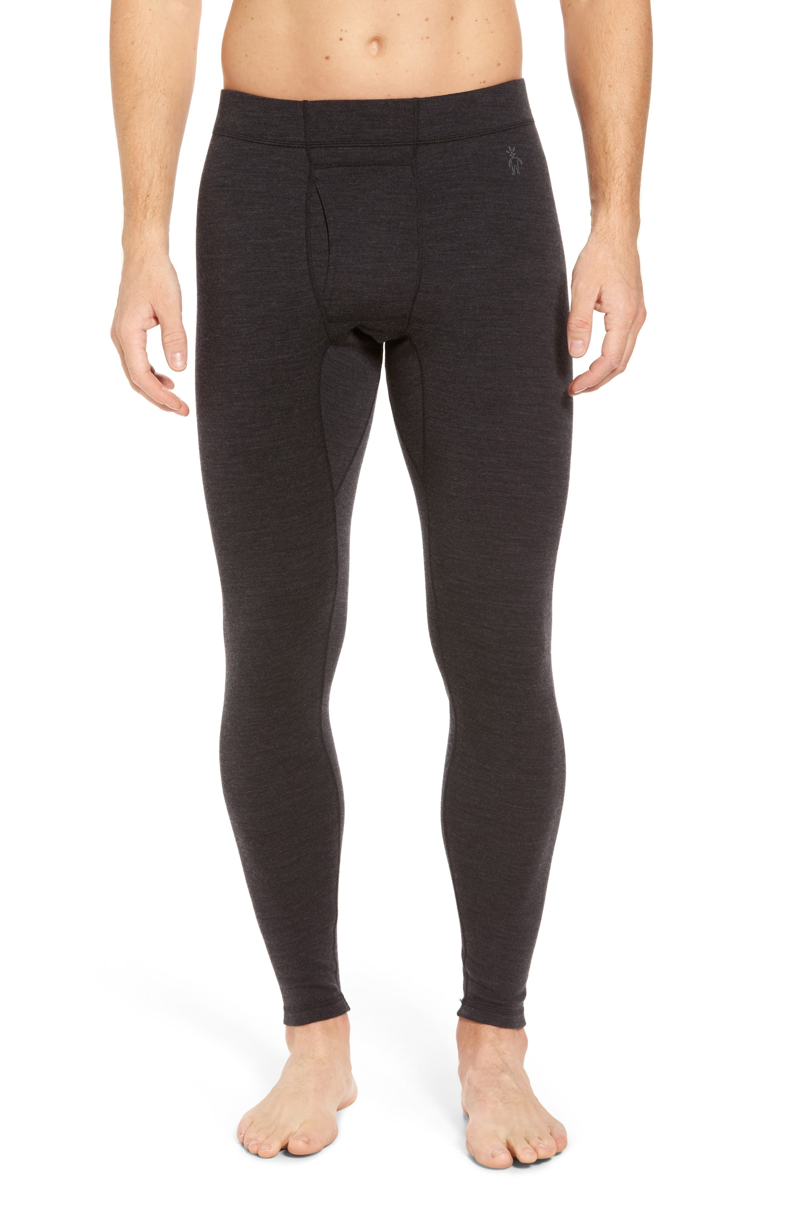SMARTWOOL Merino 250 Base Layer Bottoms, Main, color, CHARCOAL HEATHER