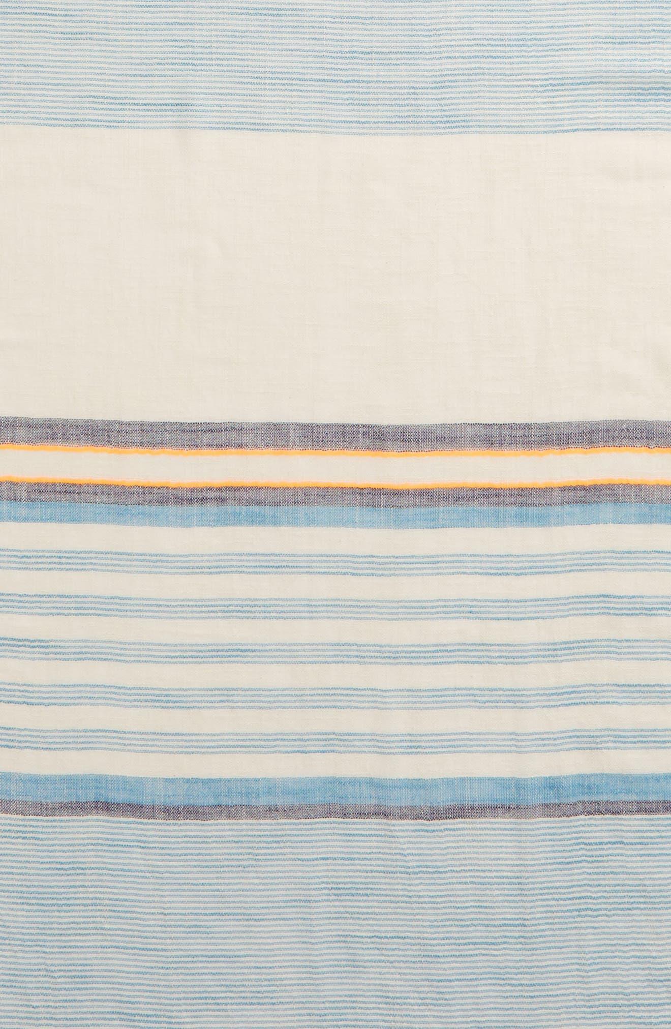ECHO, Cabana Stripe Scarf, Alternate thumbnail 4, color, 400