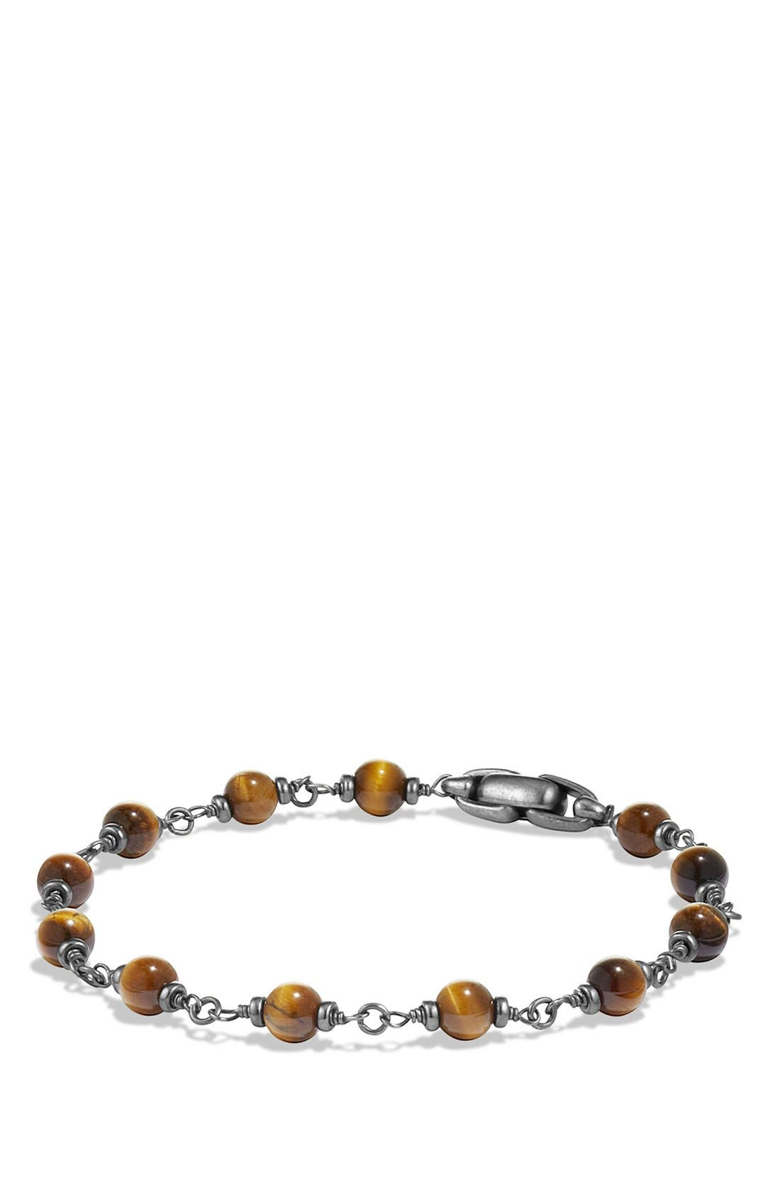 DAVID YURMAN, 'Spiritual Beads' Rosary Bead Bracelet, Main thumbnail 1, color, TIGER EYE