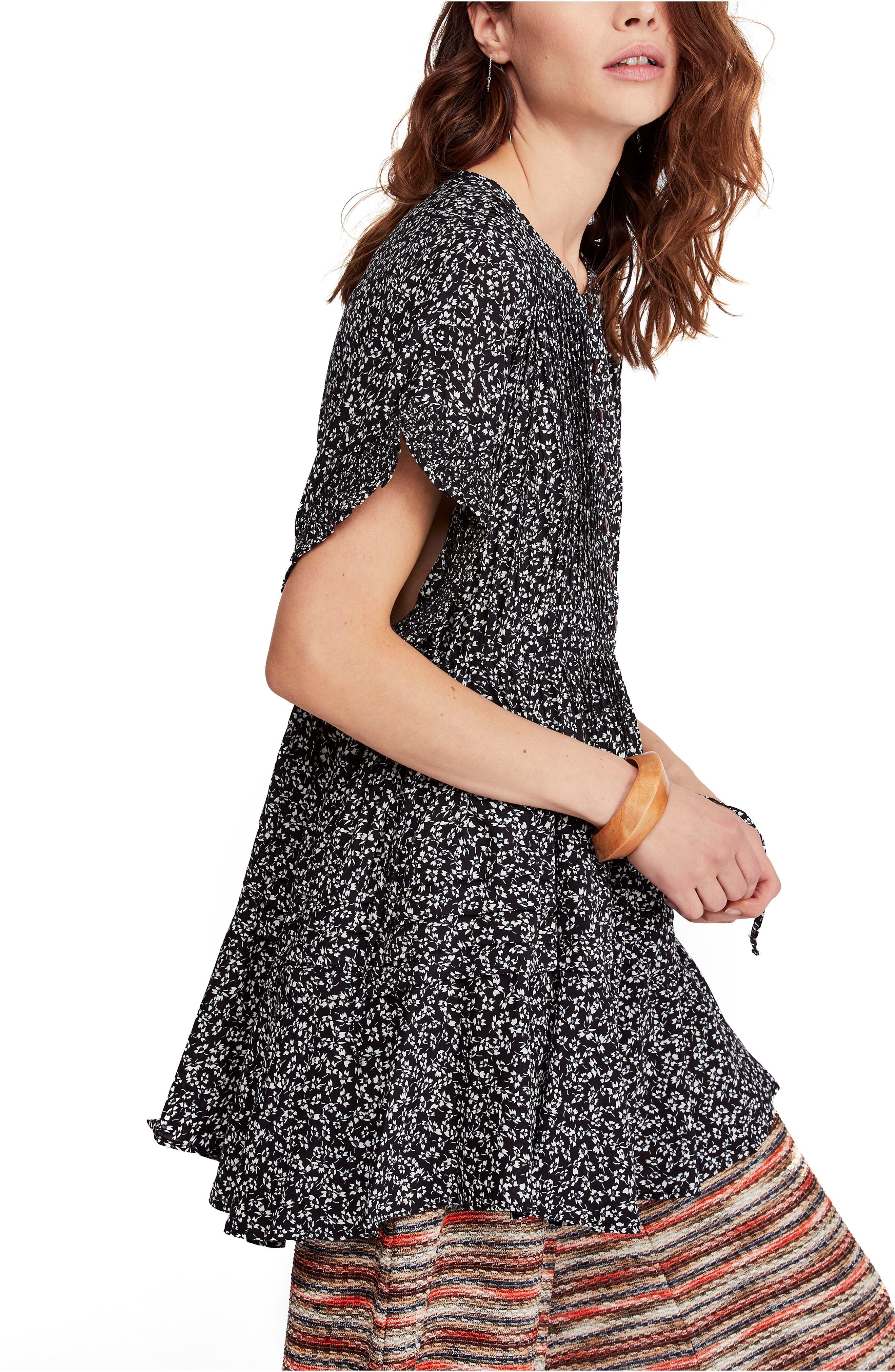 FREE PEOPLE, One Fine Day Minidress, Alternate thumbnail 4, color, 019