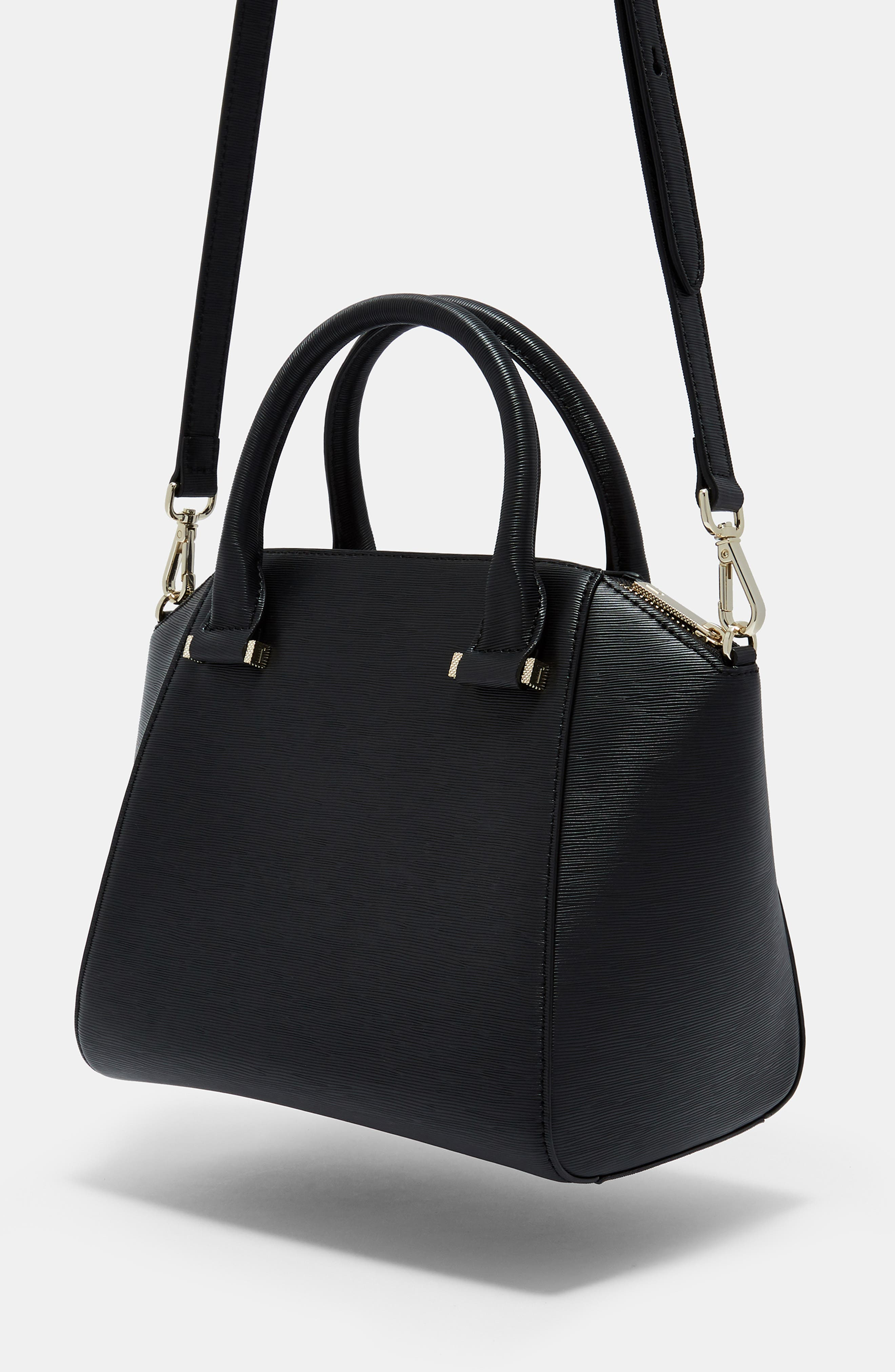 TED BAKER LONDON, Bow Tote, Alternate thumbnail 6, color, 001