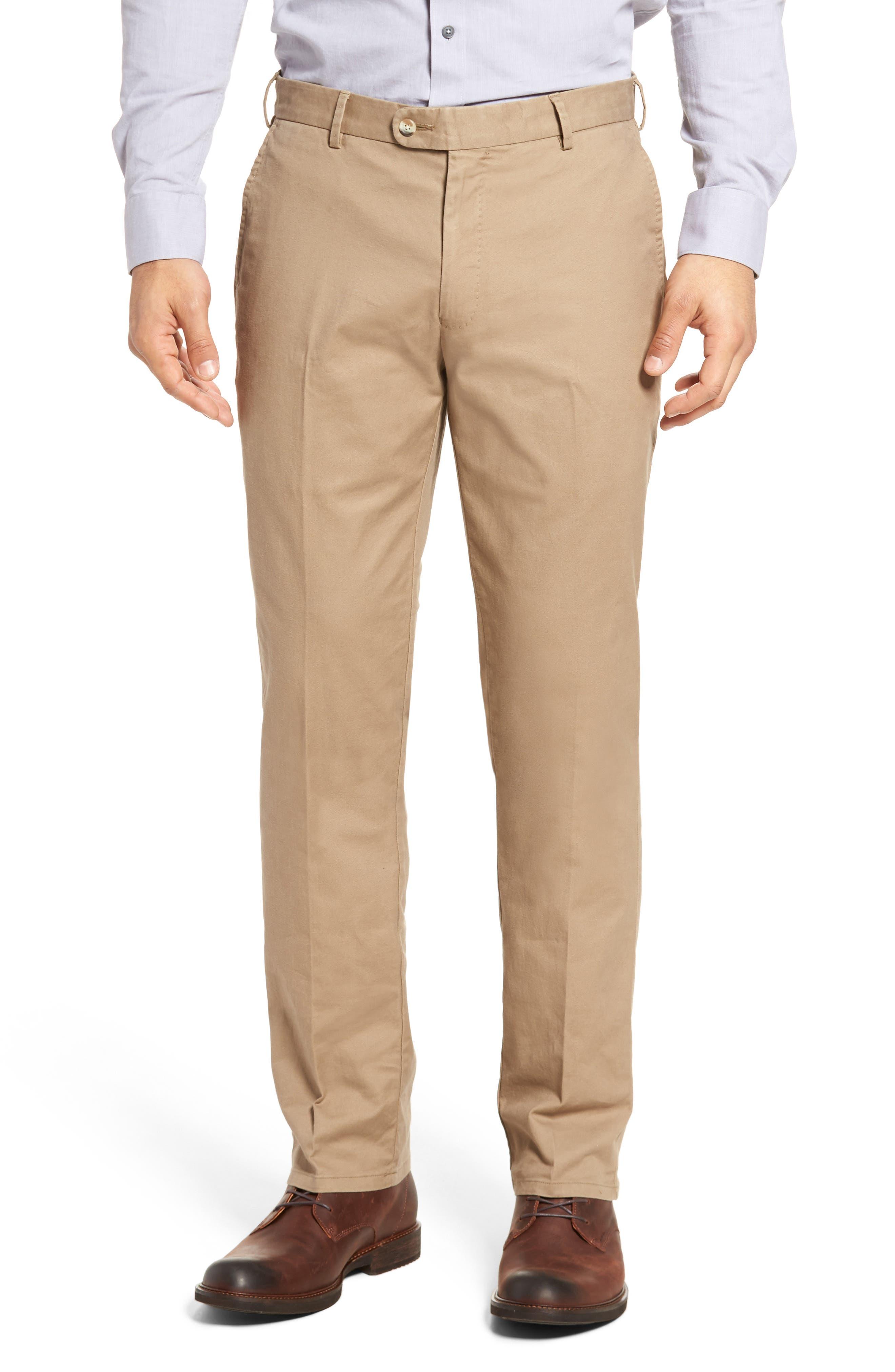 PETER MILLAR Twill Pants, Main, color, BRITISH TAN
