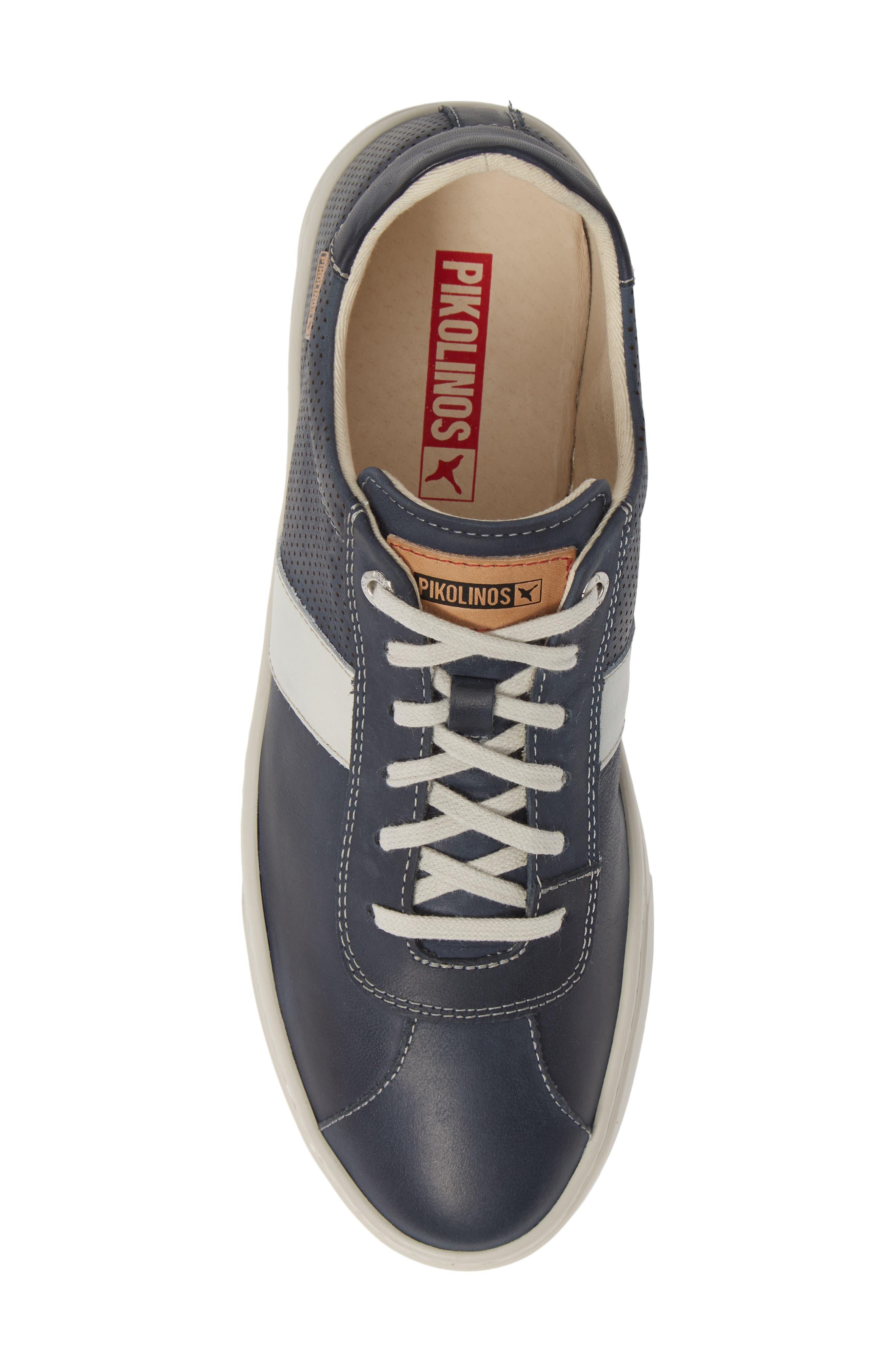 PIKOLINOS, Belfort Perforated Sneaker, Alternate thumbnail 5, color, BLUE