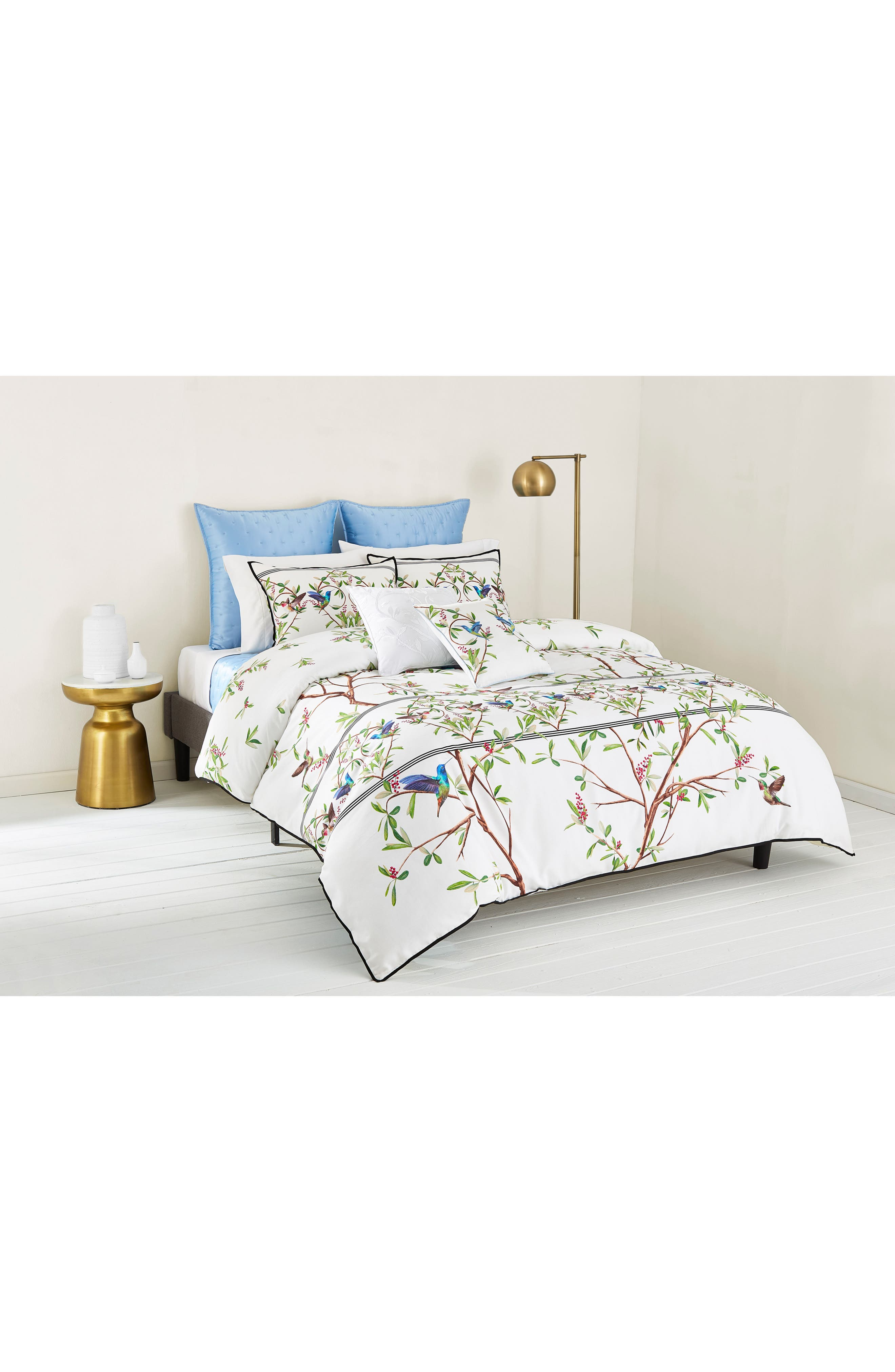 TED BAKER LONDON, Highgrove Comforter & Sham Set, Alternate thumbnail 3, color, WHITE/ MULTI