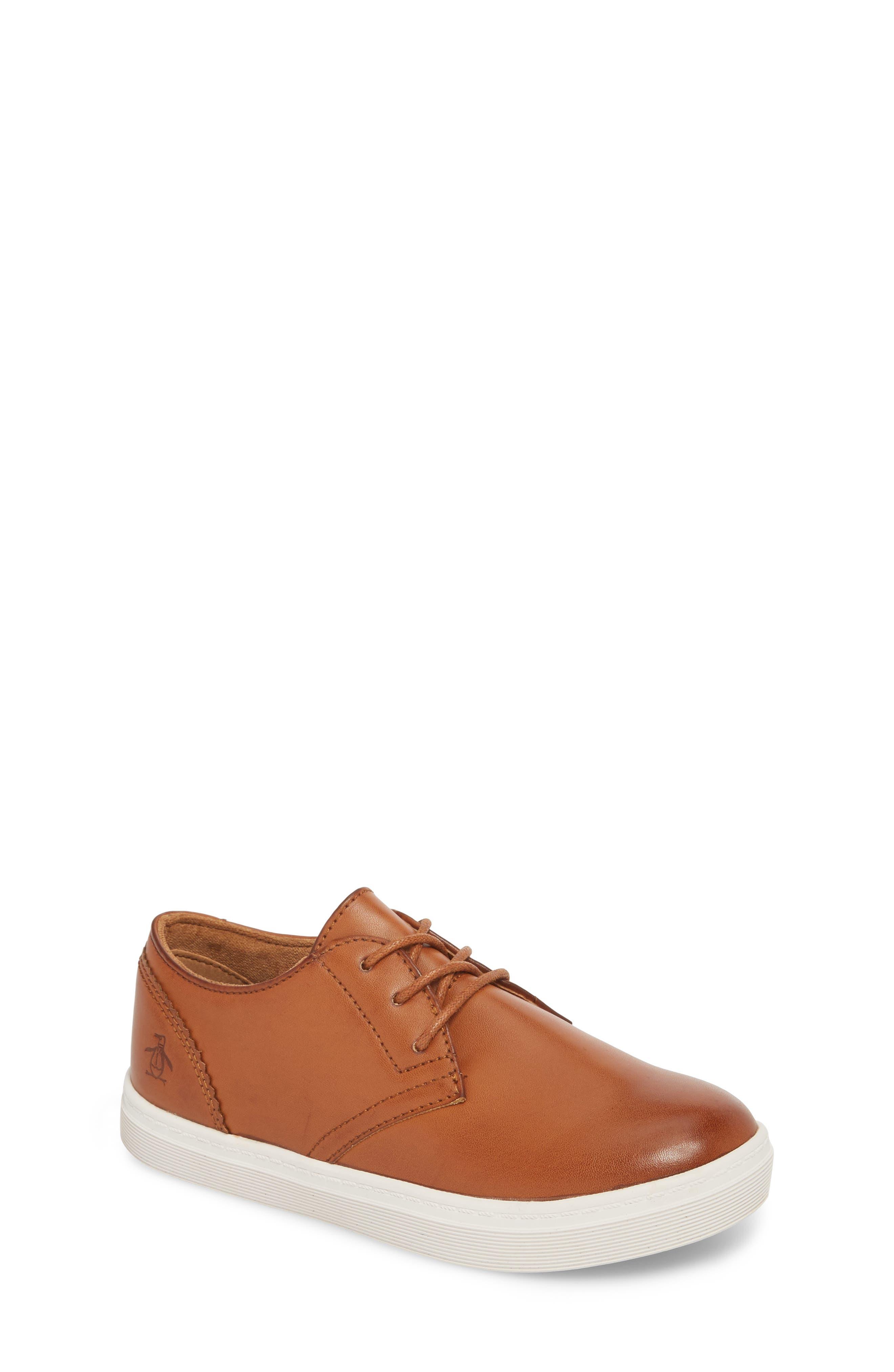 ORIGINAL PENGUIN, Freeland Sneaker, Main thumbnail 1, color, COGNAC