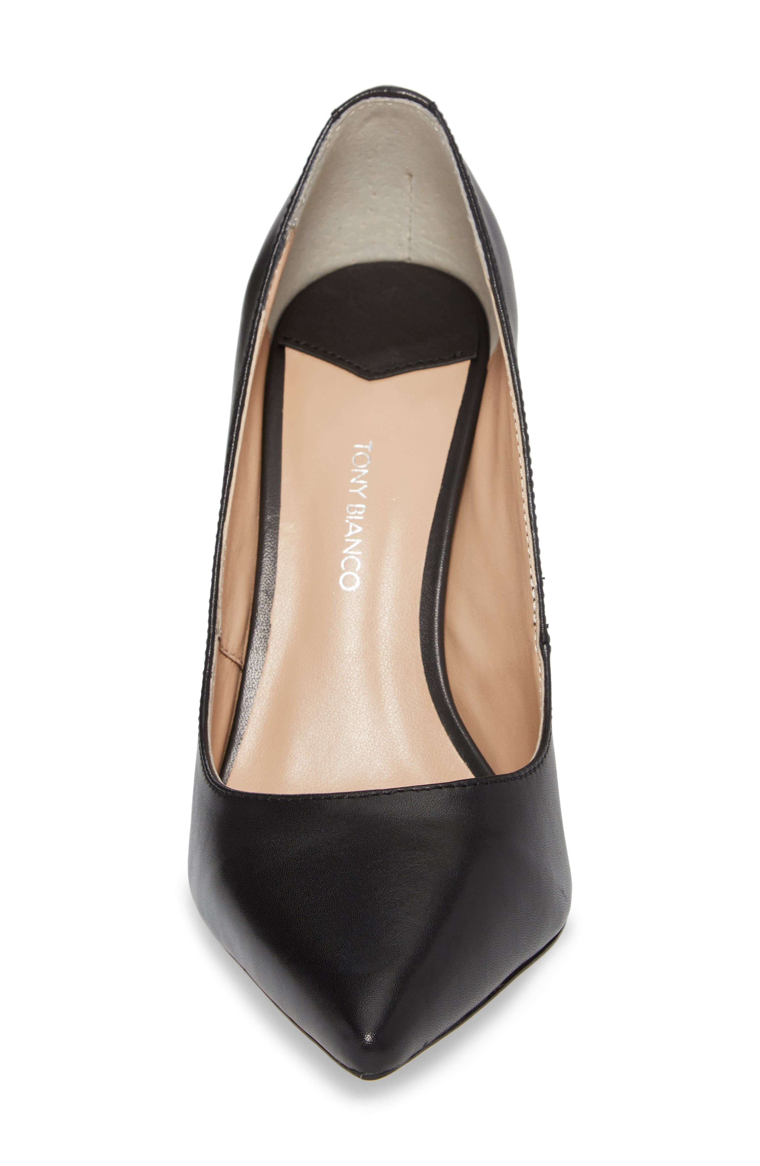TONY BIANCO, Lotus Pointy Toe Pump, Alternate thumbnail 4, color, 001