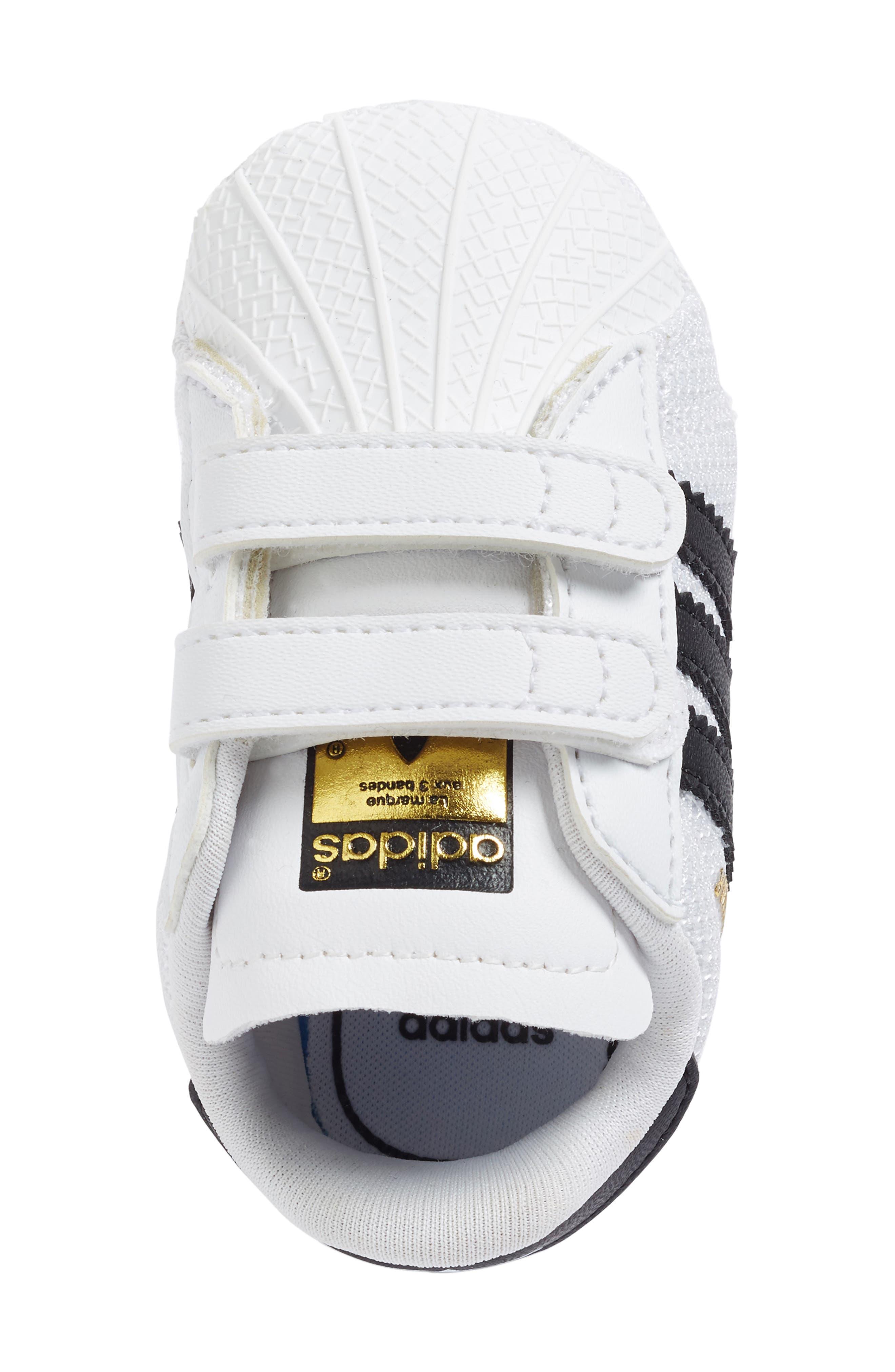 ADIDAS, Superstar Sneaker, Alternate thumbnail 3, color, WHITE/ BLACK