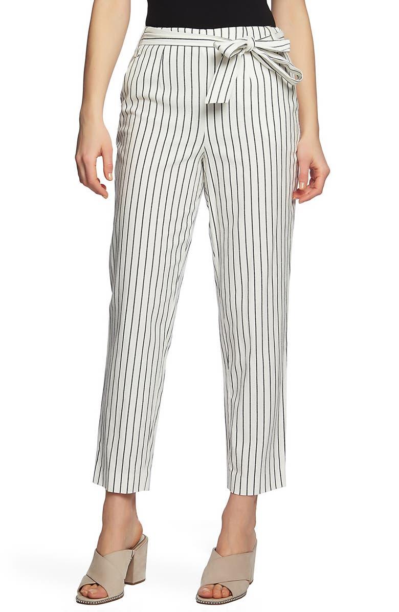1.state Pants STRIPE TIE WAIST PANTS