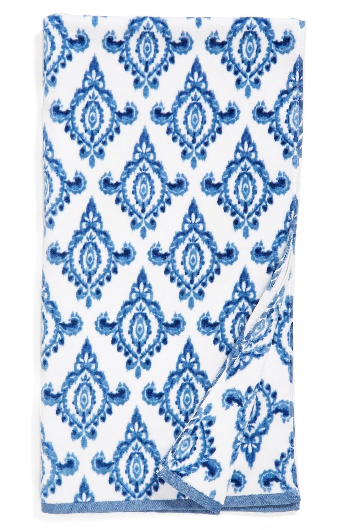 DENA HOME 'Madison' Ikat Print Bath Towel, Main, color, 410