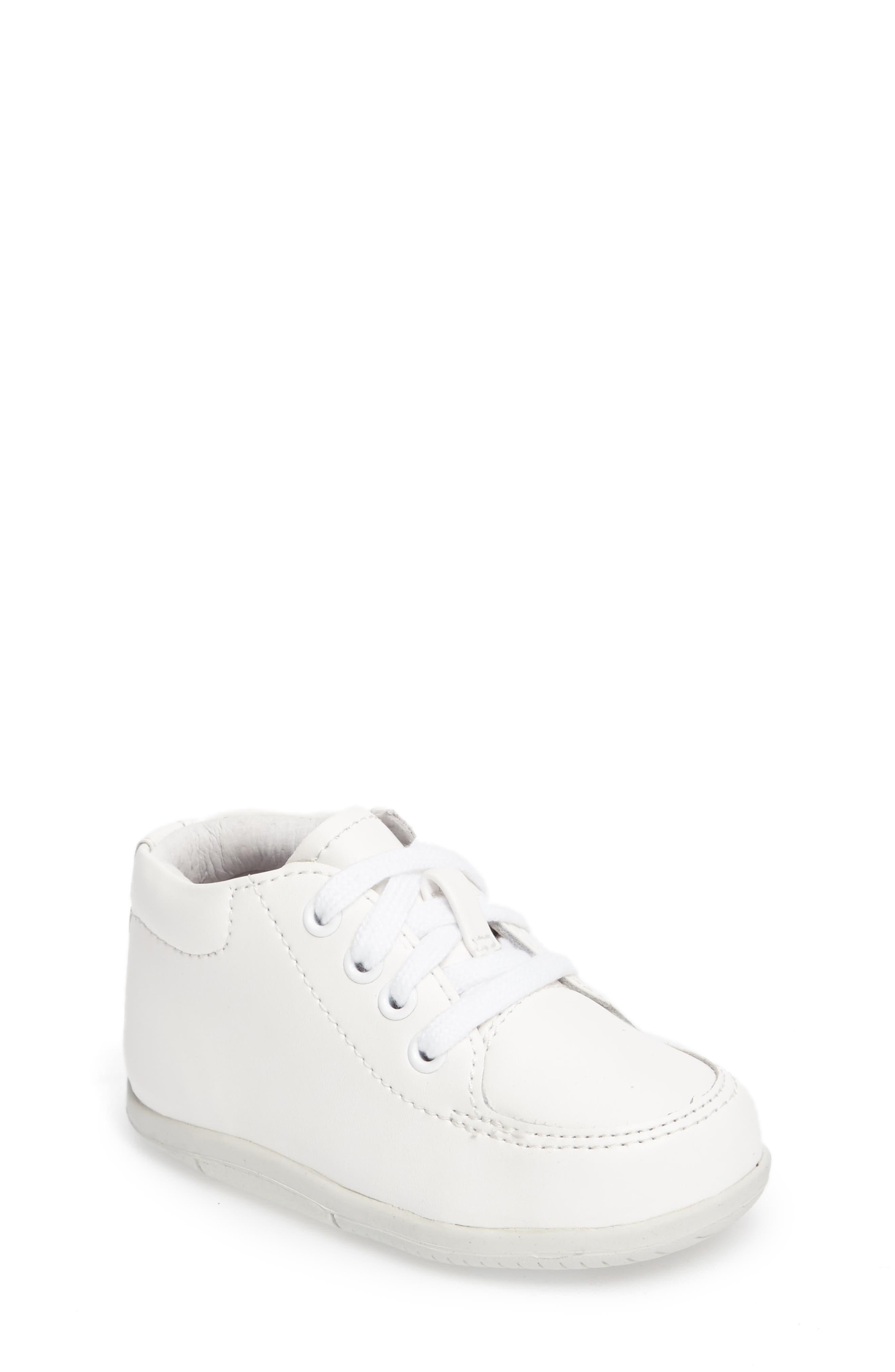 STRIDE RITE, Grayson Sneaker, Main thumbnail 1, color, WHITE