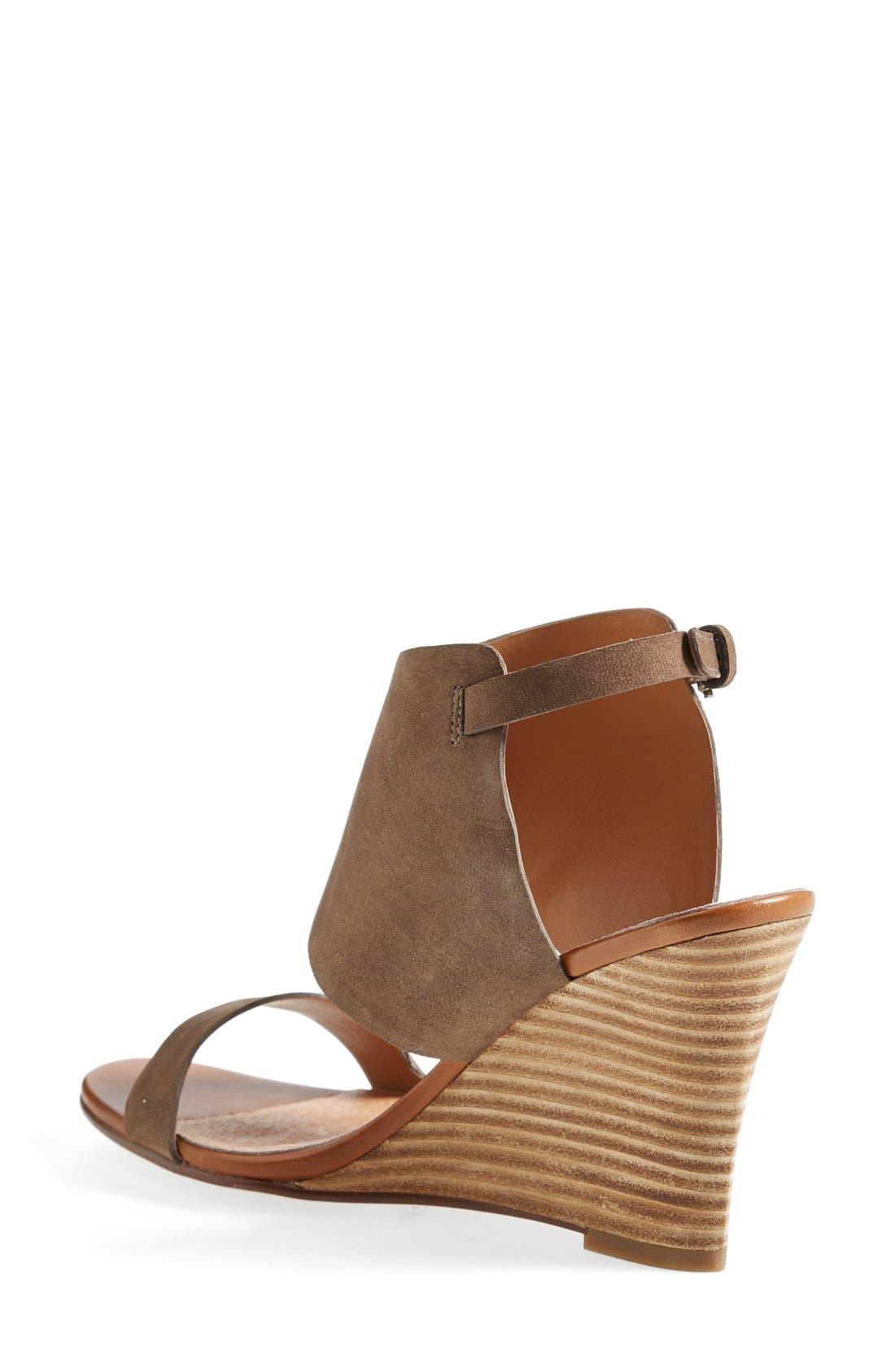 HALOGEN<SUP>®</SUP>, 'Clarette' Wedge Sandal, Alternate thumbnail 2, color, 030