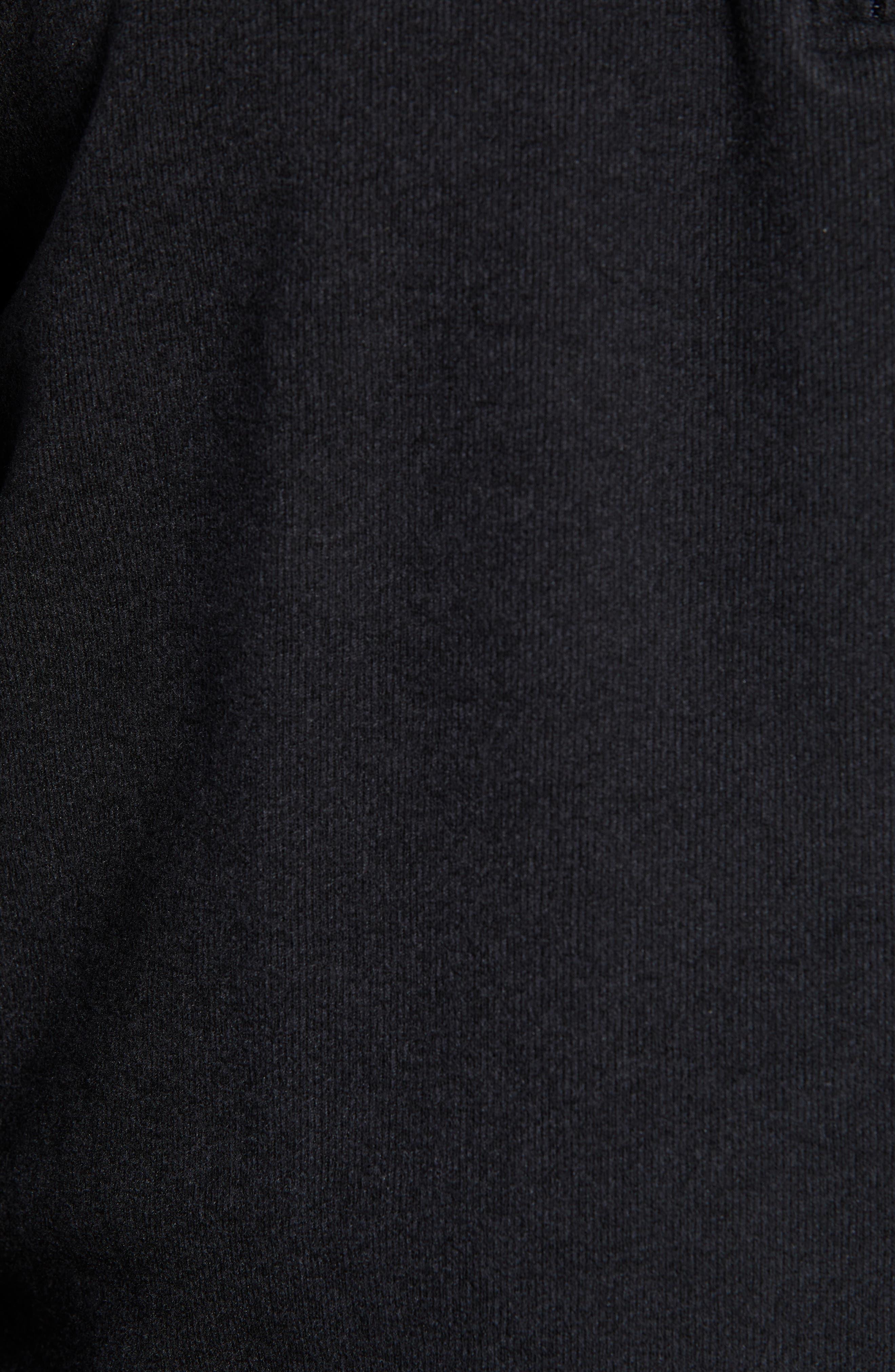 PETER MILLAR, Half Zip Pullover, Alternate thumbnail 5, color, BLACK