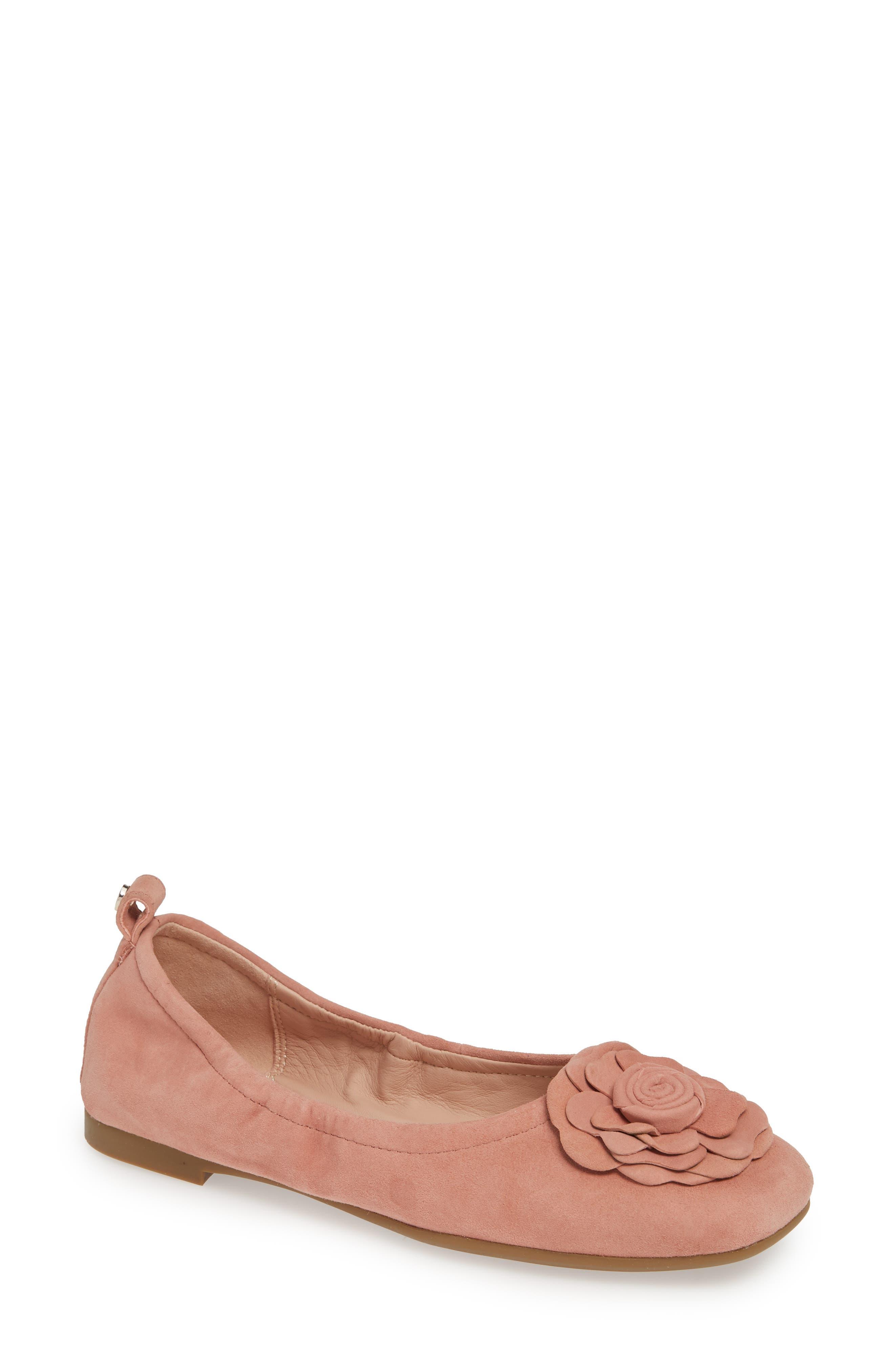 Taryn Rose Rosalyn Ballet Flat- Pink