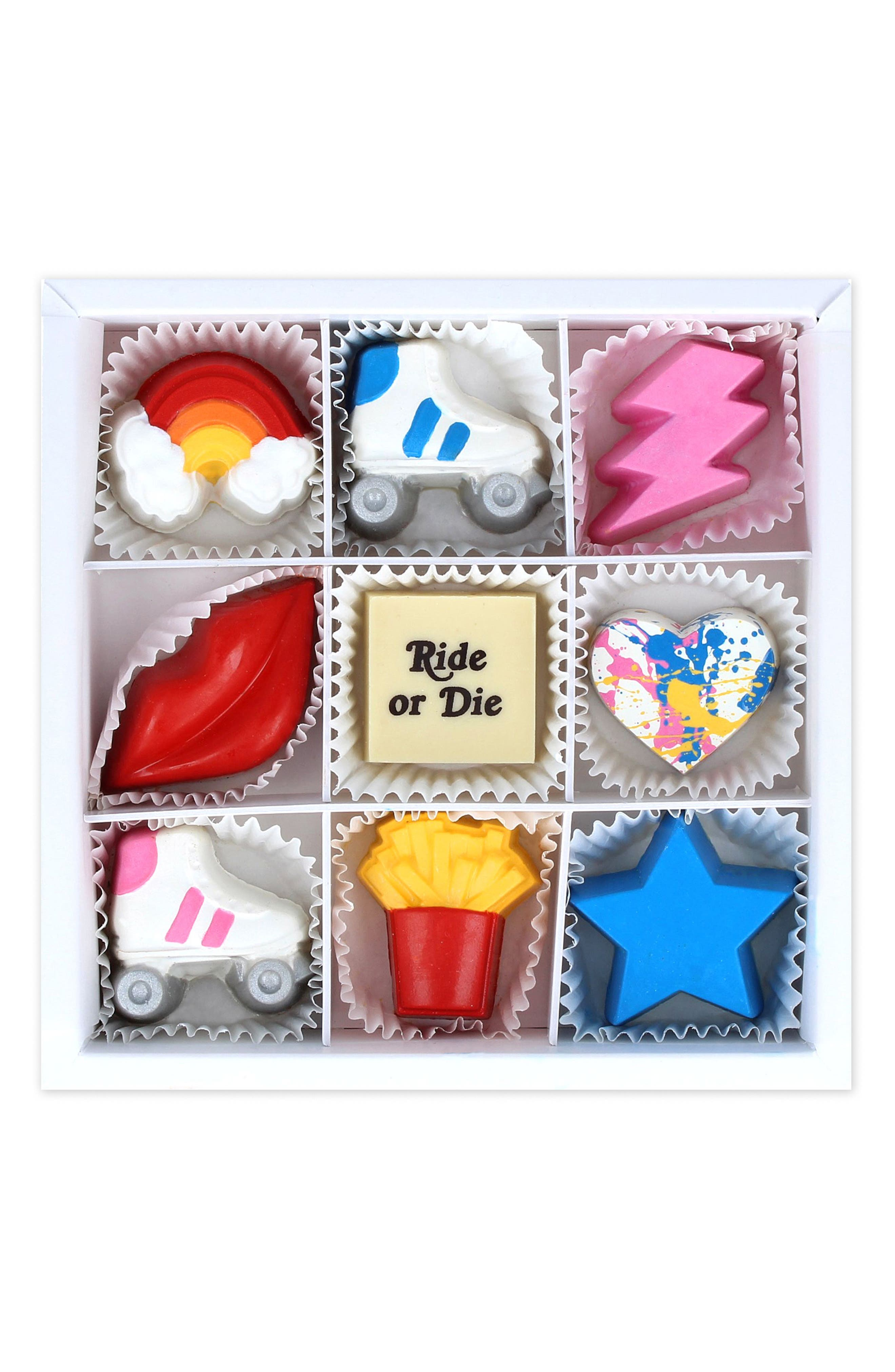 MAGGIE LOUISE CONFECTIONS, Ride or Die 9-Piece Chocolate Set, Main thumbnail 1, color, 100