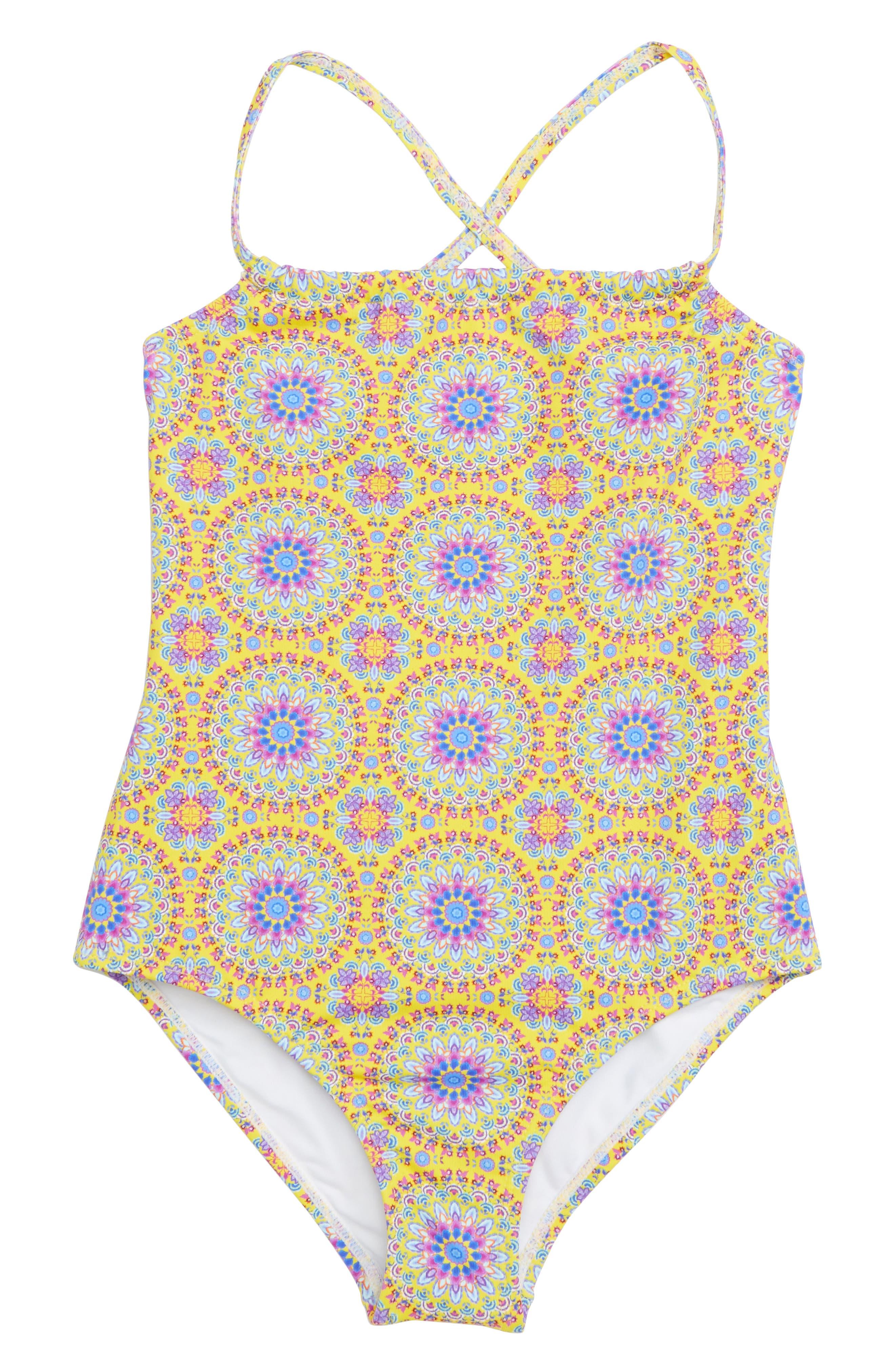 ONDADEMAR One-Piece Swimsuit, Main, color, MULTICOLOR