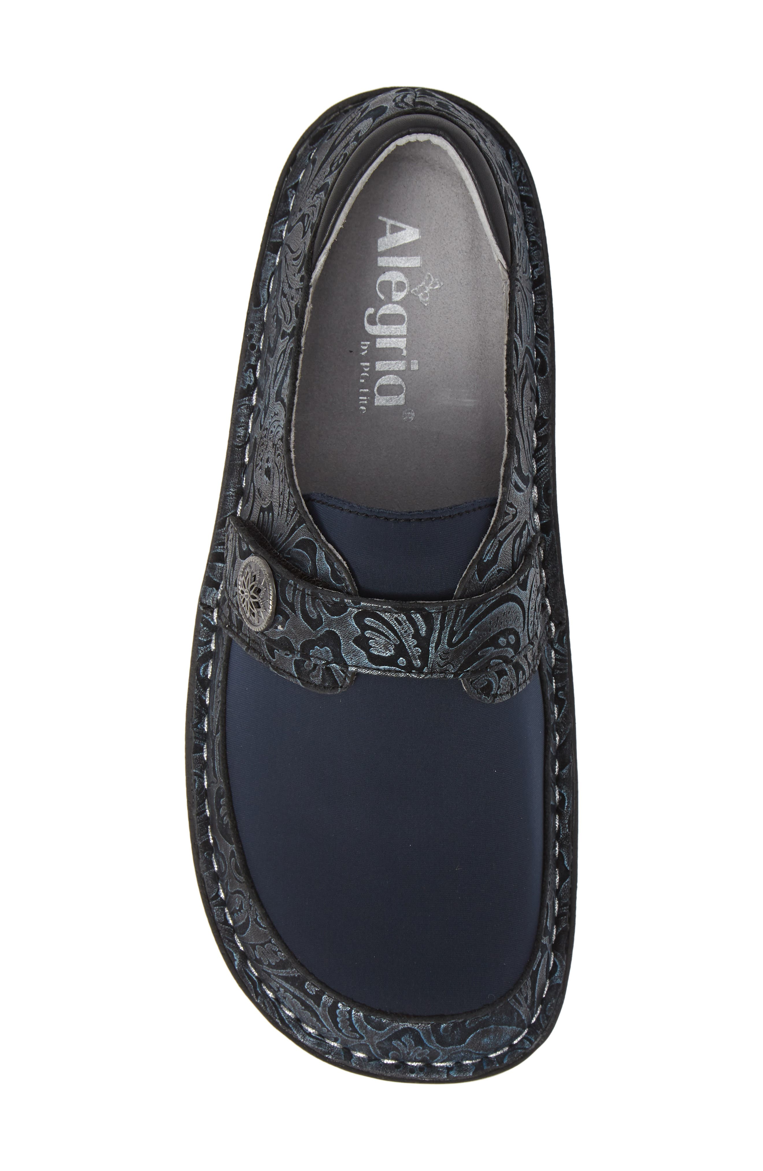 ALEGRIA, Brenna Slip-On, Alternate thumbnail 5, color, NAVY SWISH LEATHER