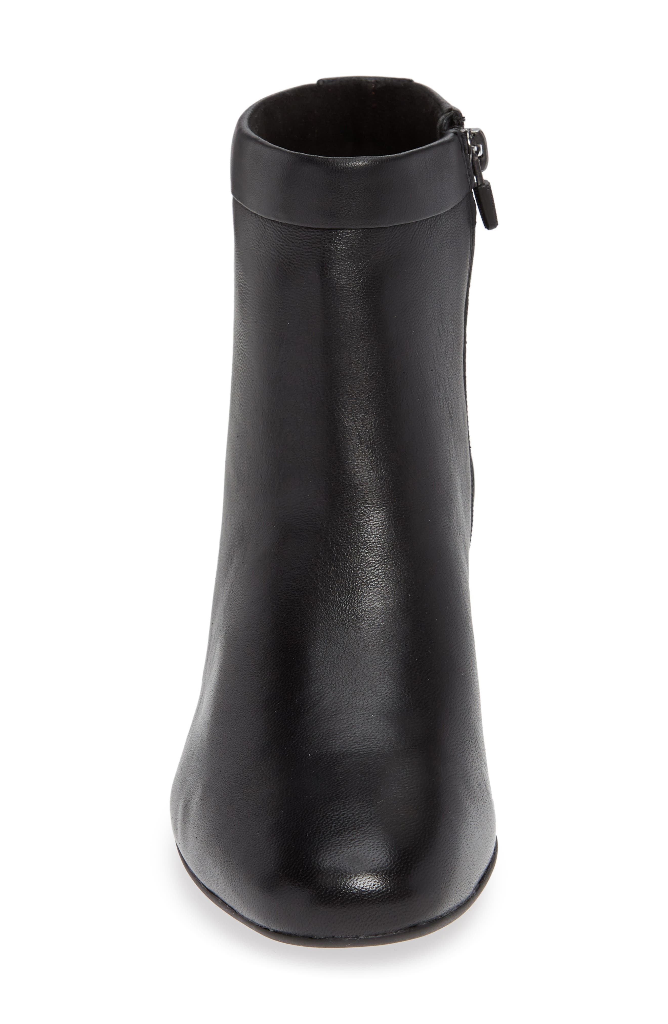 CLARKS<SUP>®</SUP>, Un Cosmo Up Bootie, Alternate thumbnail 4, color, BLACK LEATHER
