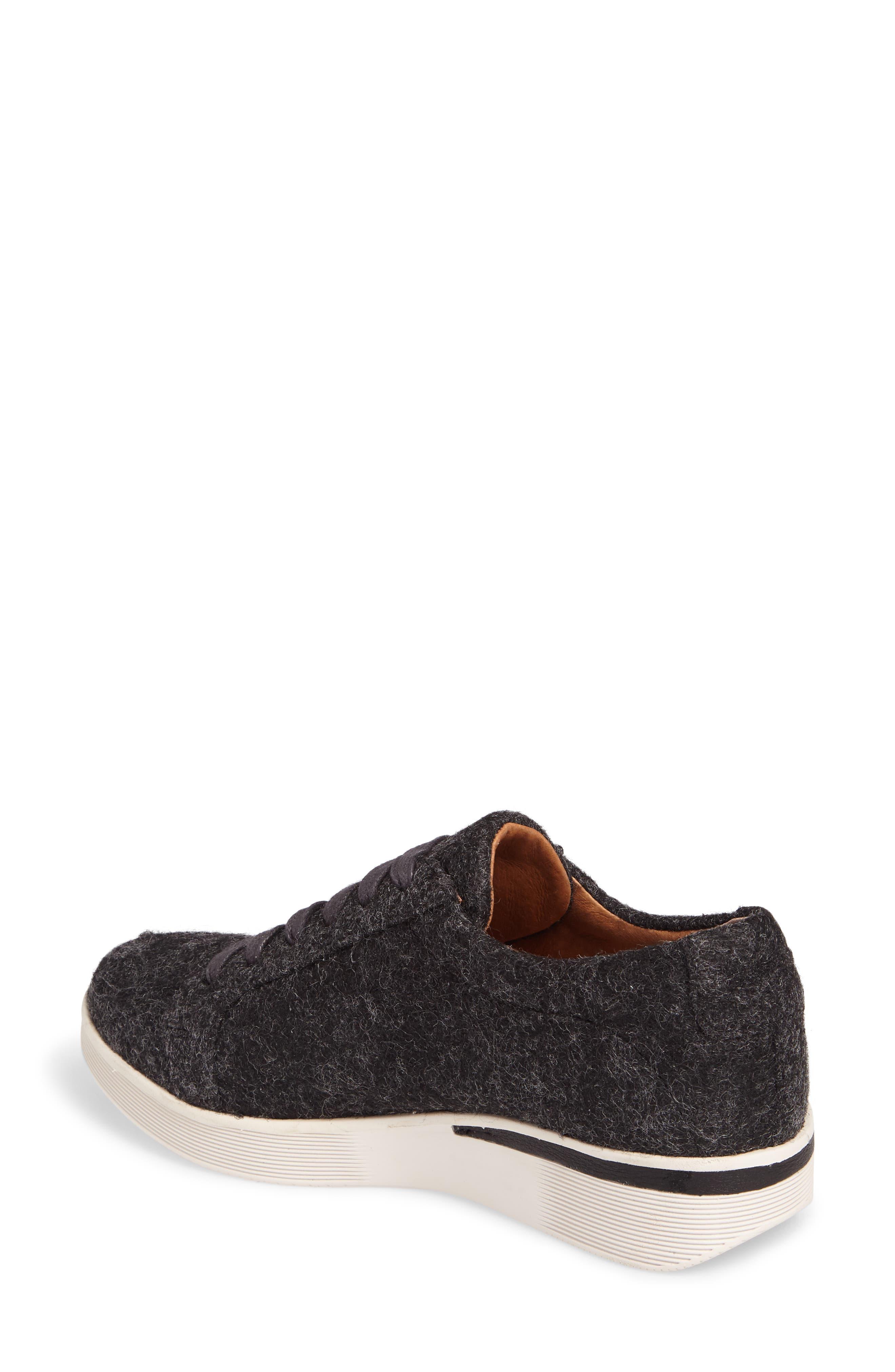GENTLE SOULS BY KENNETH COLE, Haddie Low Platform Sneaker, Alternate thumbnail 2, color, HEATHER GREY WOOL