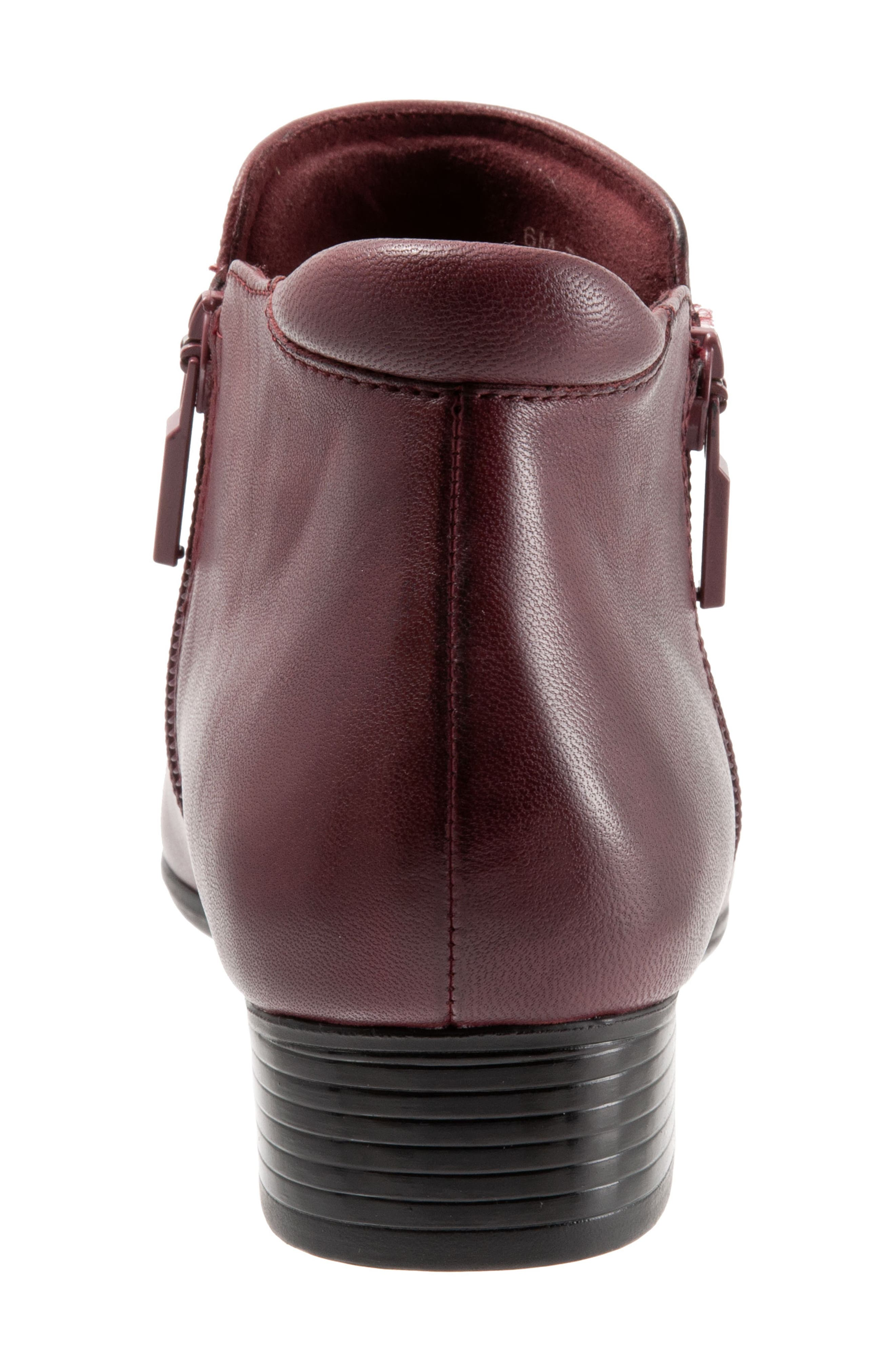 TROTTERS, Major Bootie, Alternate thumbnail 7, color, DARK RED LEATHER
