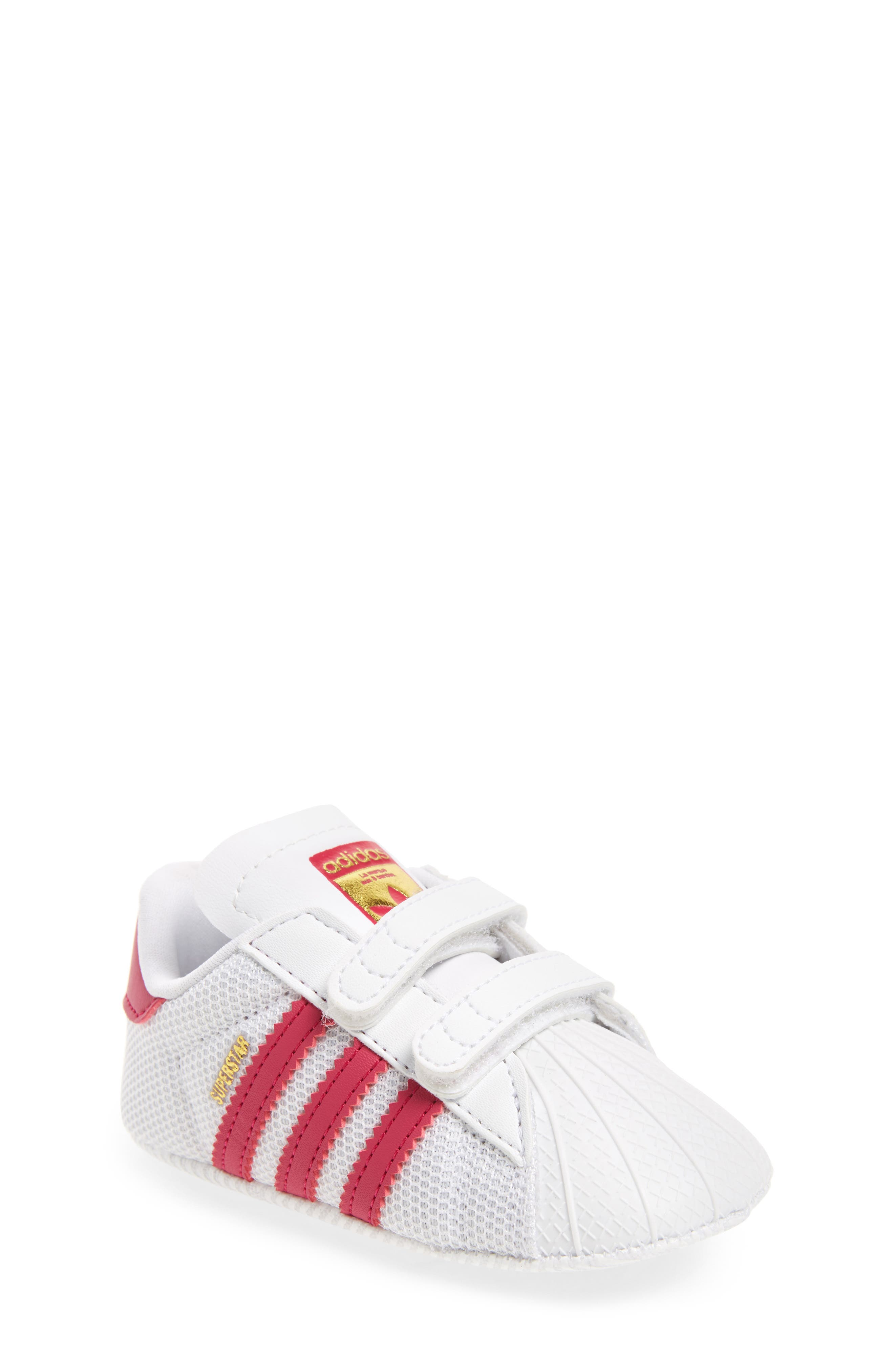 ADIDAS, Superstar Sneaker, Main thumbnail 1, color, WHITE/ PINK
