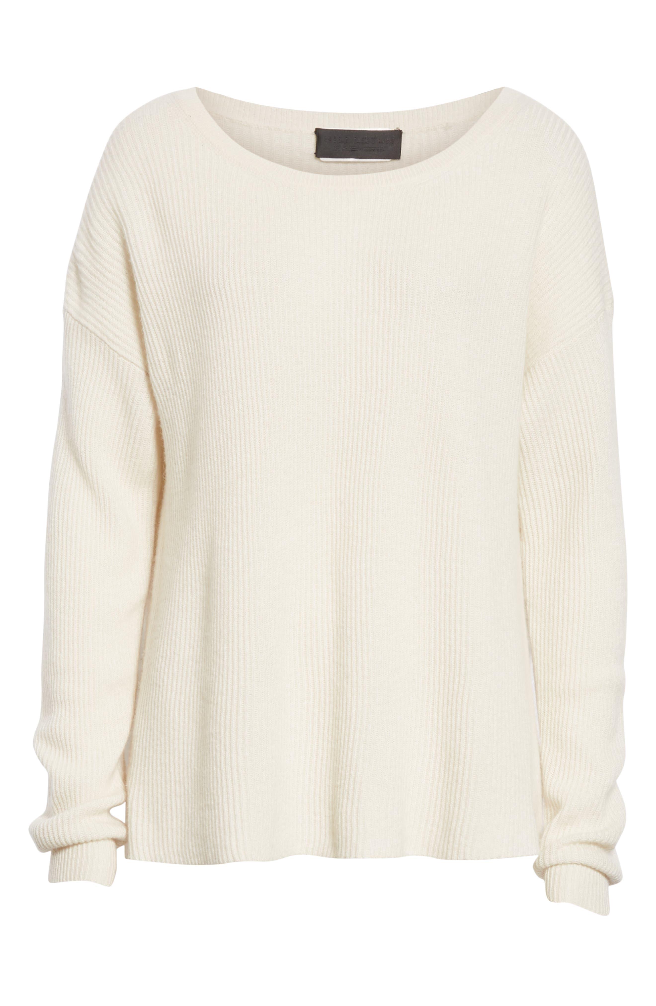 NILI LOTAN, Hadis Cashmere Sweater, Alternate thumbnail 6, color, IVORY