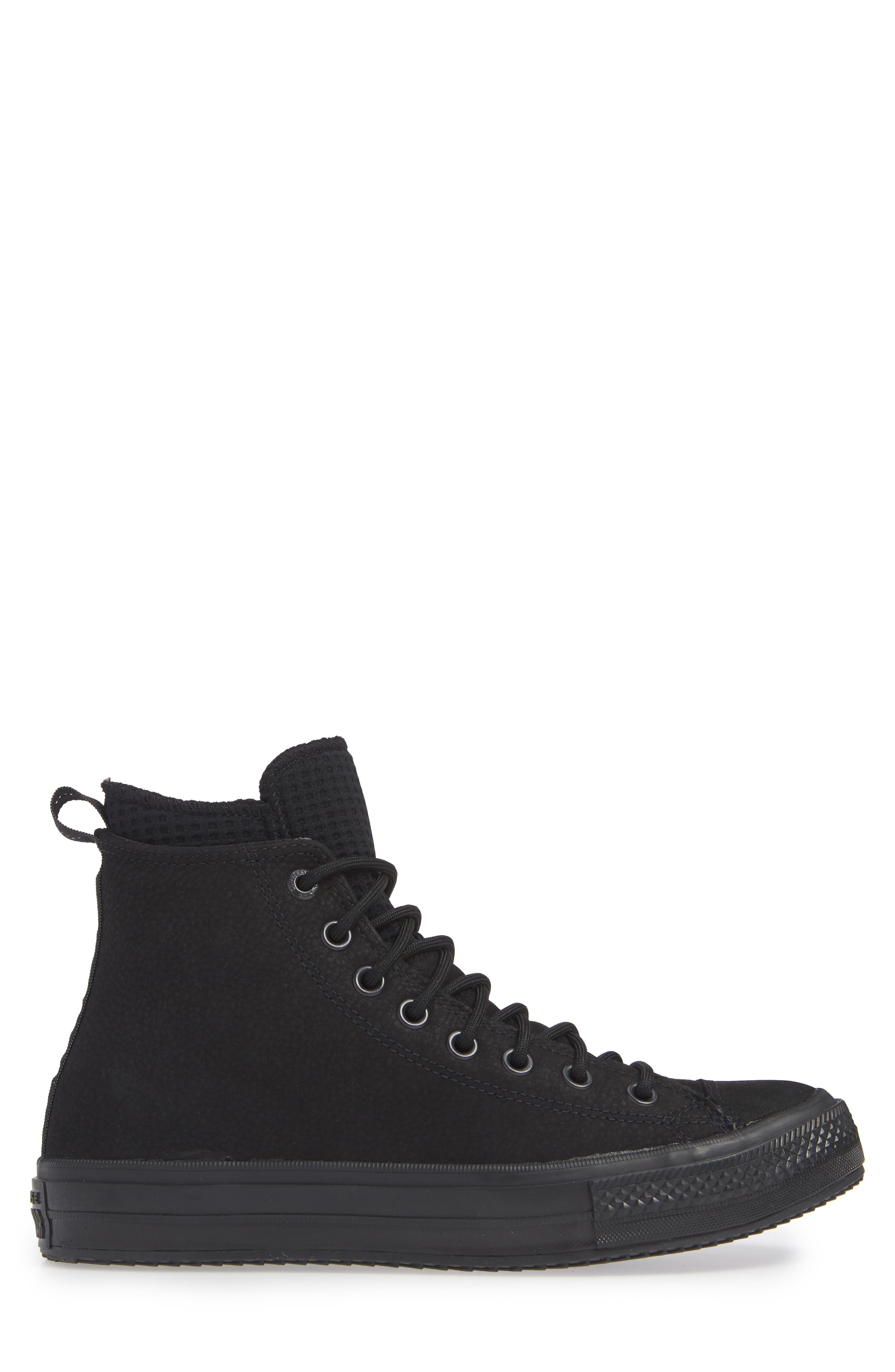 CONVERSE, Chuck Taylor<sup>®</sup> All Star<sup>®</sup> Counter Climate Waterproof Sneaker, Alternate thumbnail 3, color, BLACK/ BLACK/ BLACK
