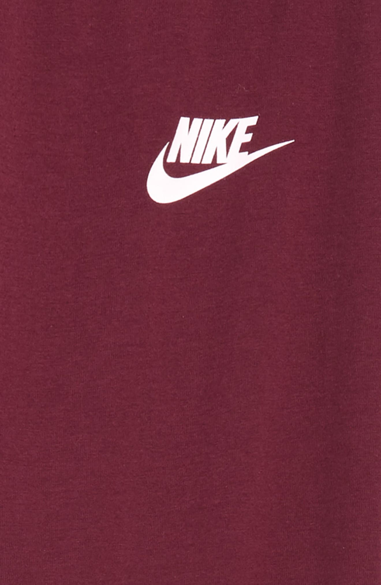 NIKE, Logo Tights, Alternate thumbnail 2, color, BORDEAUX