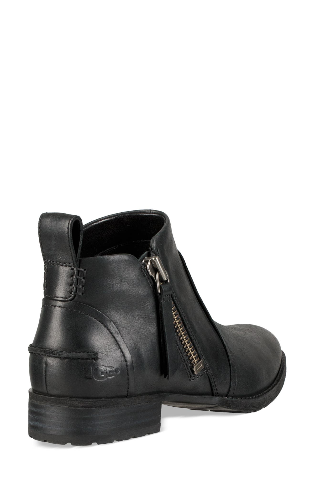 UGG<SUP>®</SUP>, Aureo Bootie, Alternate thumbnail 2, color, BLACK/ BLACK LEATHER