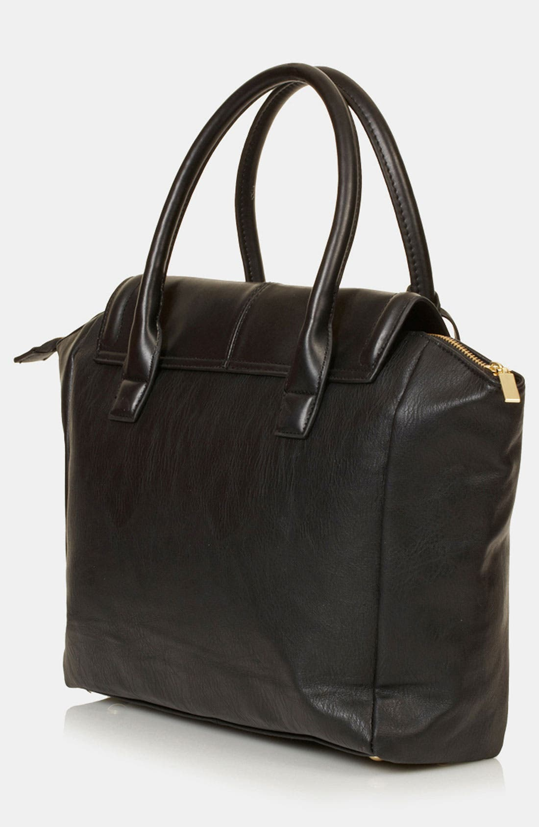TOPSHOP, Winged Tote, Alternate thumbnail 2, color, 001
