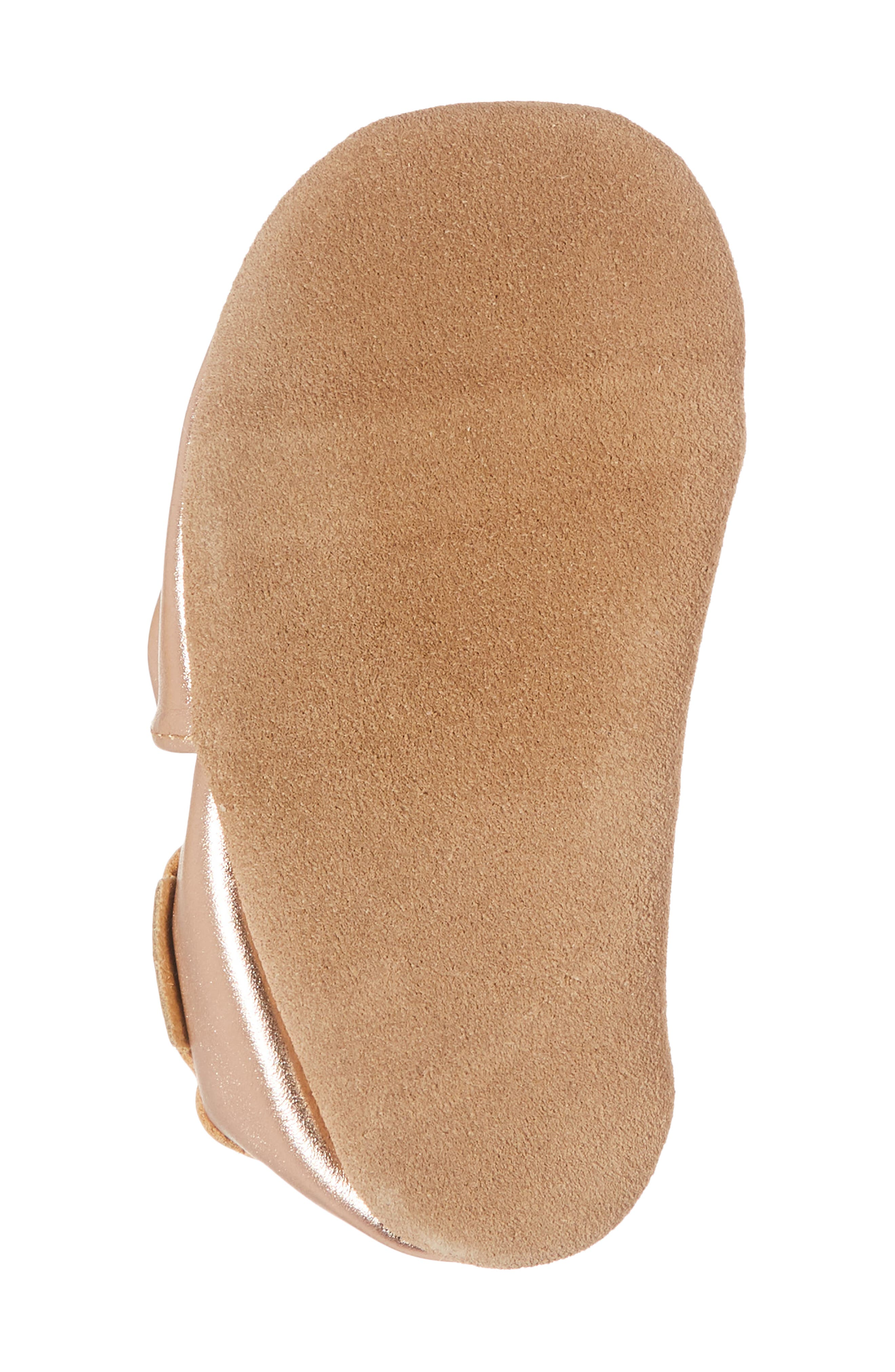 ROBEEZ<SUP>®</SUP>, Rosie Crib Shoes, Alternate thumbnail 6, color, ROSE GOLD