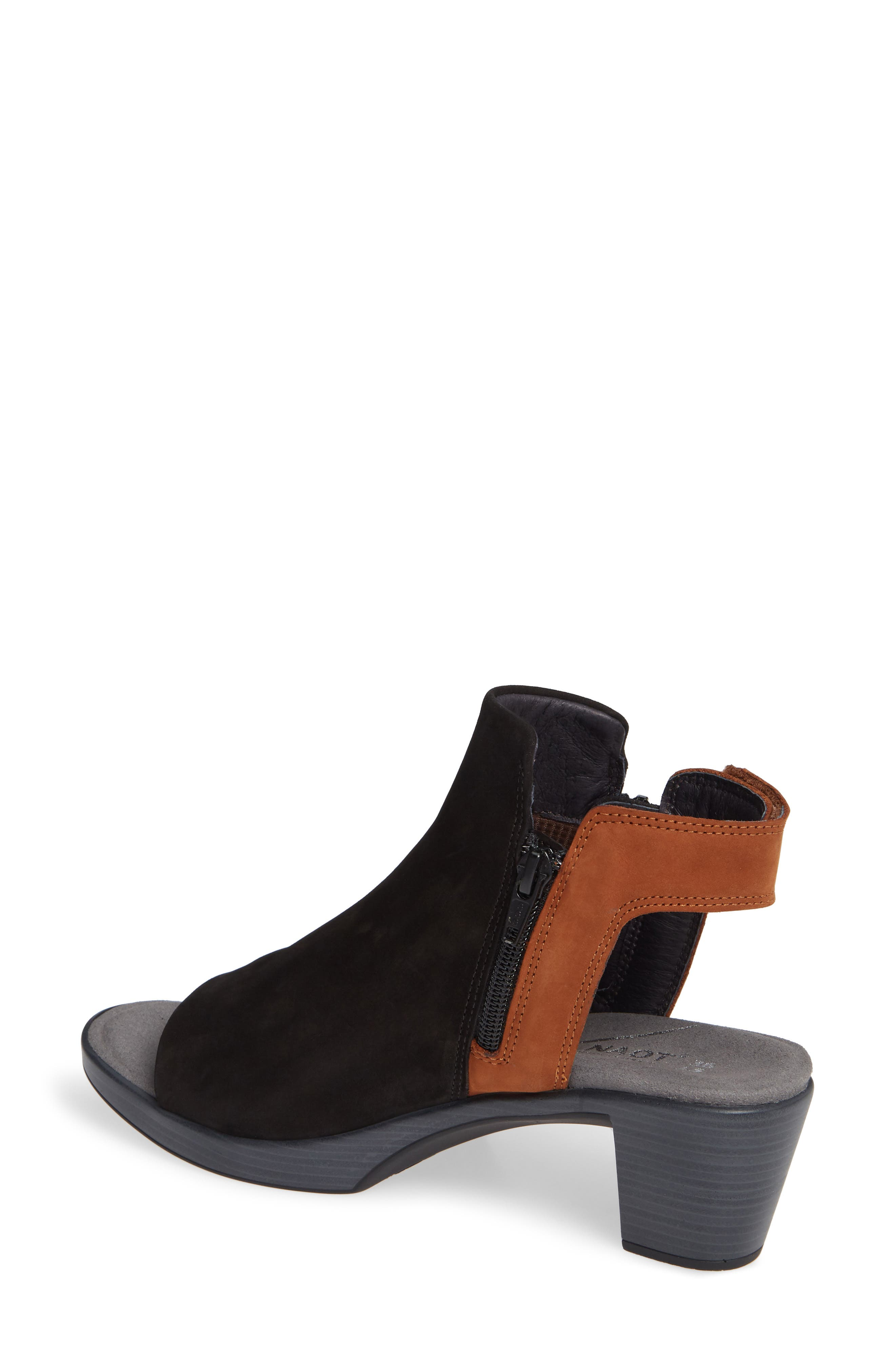 NAOT, Favorite Sandal, Alternate thumbnail 2, color, BLACK/ HAWAIIAN BROWN NUBUCK
