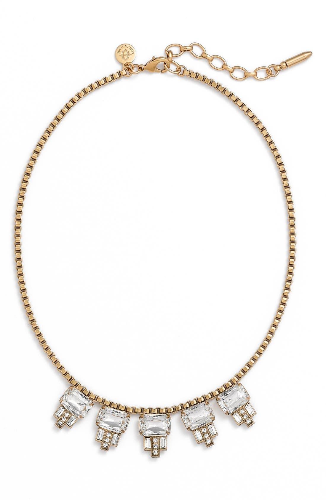 LOREN HOPE, 'Alex' Collar Necklace, Main thumbnail 1, color, 040
