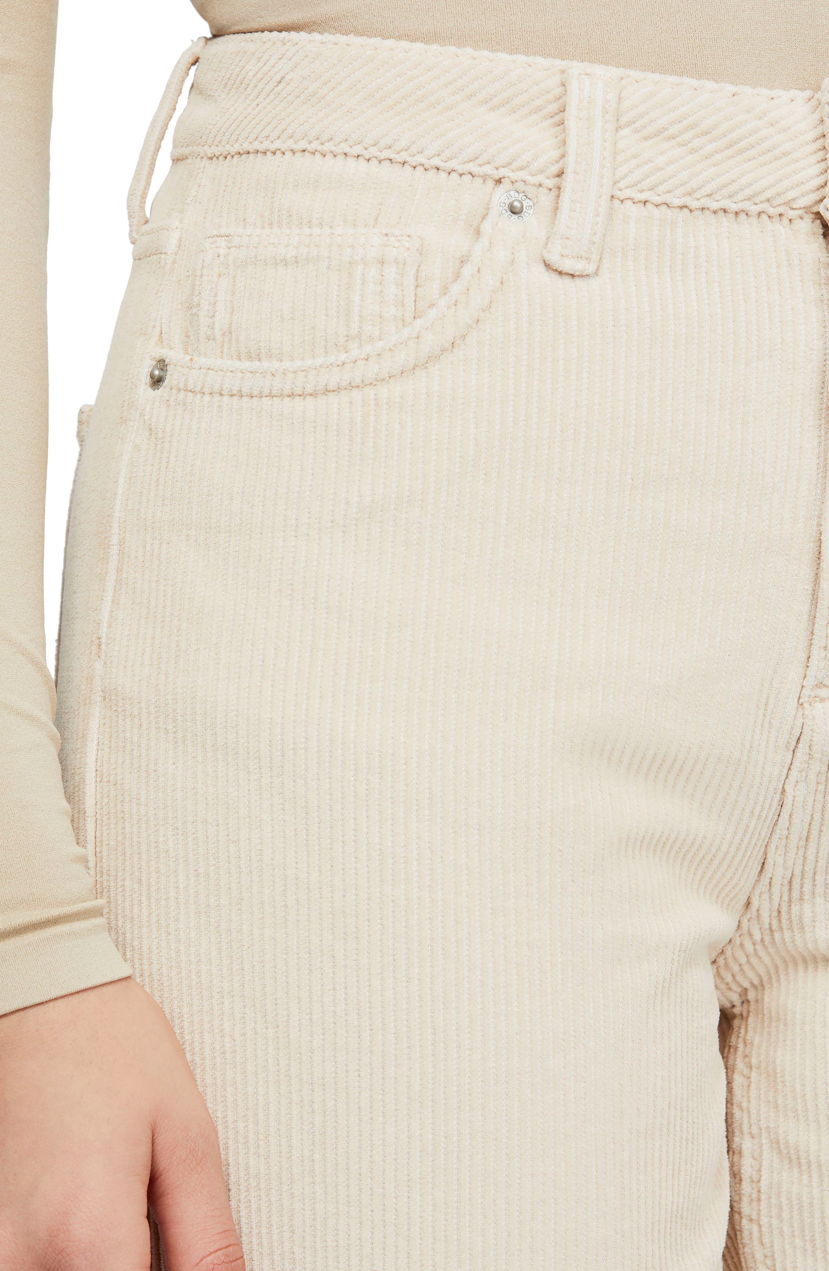 BDG, Urban Outfitters Mom Corduroy Pants, Alternate thumbnail 5, color, WHITE