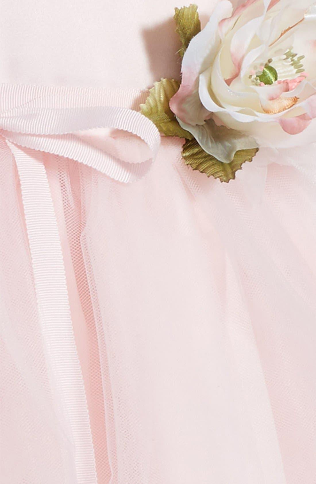 US ANGELS, Tulle Ballerina Dress, Alternate thumbnail 3, color, BLUSH PINK