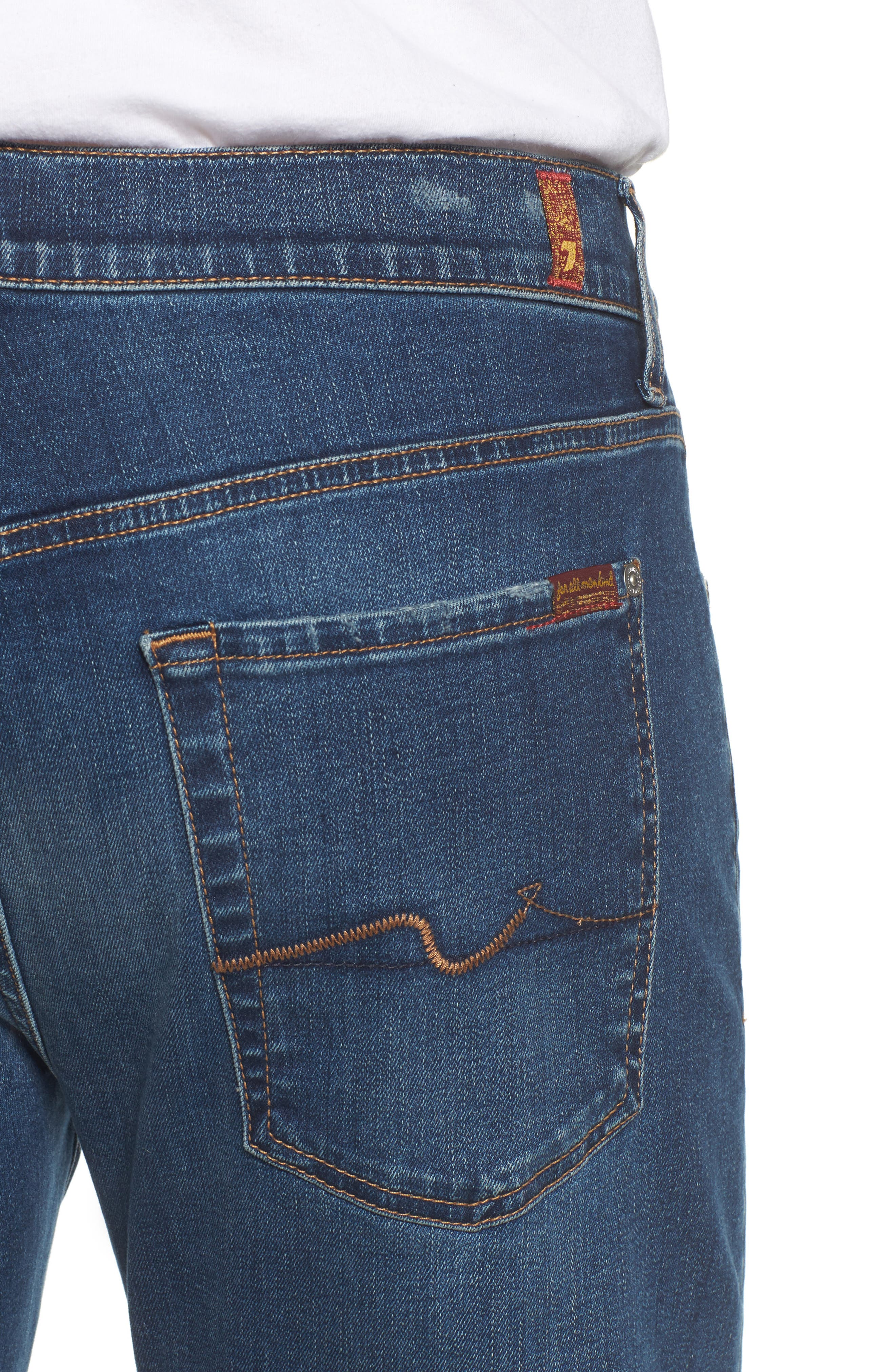 7 FOR ALL MANKIND<SUP>®</SUP>, The Straight - Luxe Performance Slim Straight Leg Jeans, Alternate thumbnail 4, color, LUXE PERFORMANCE UNION