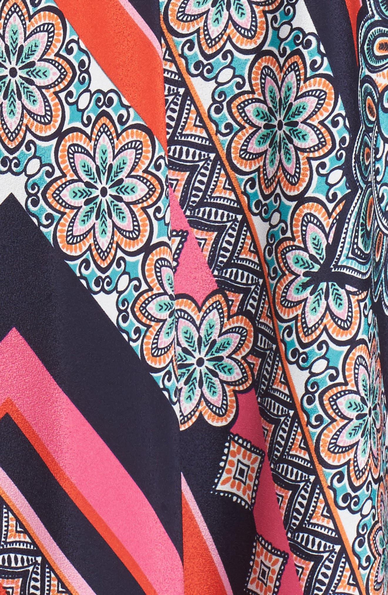 ELIZA J, Jersey & Crêpe de Chine Maxi Dress, Alternate thumbnail 5, color, 698