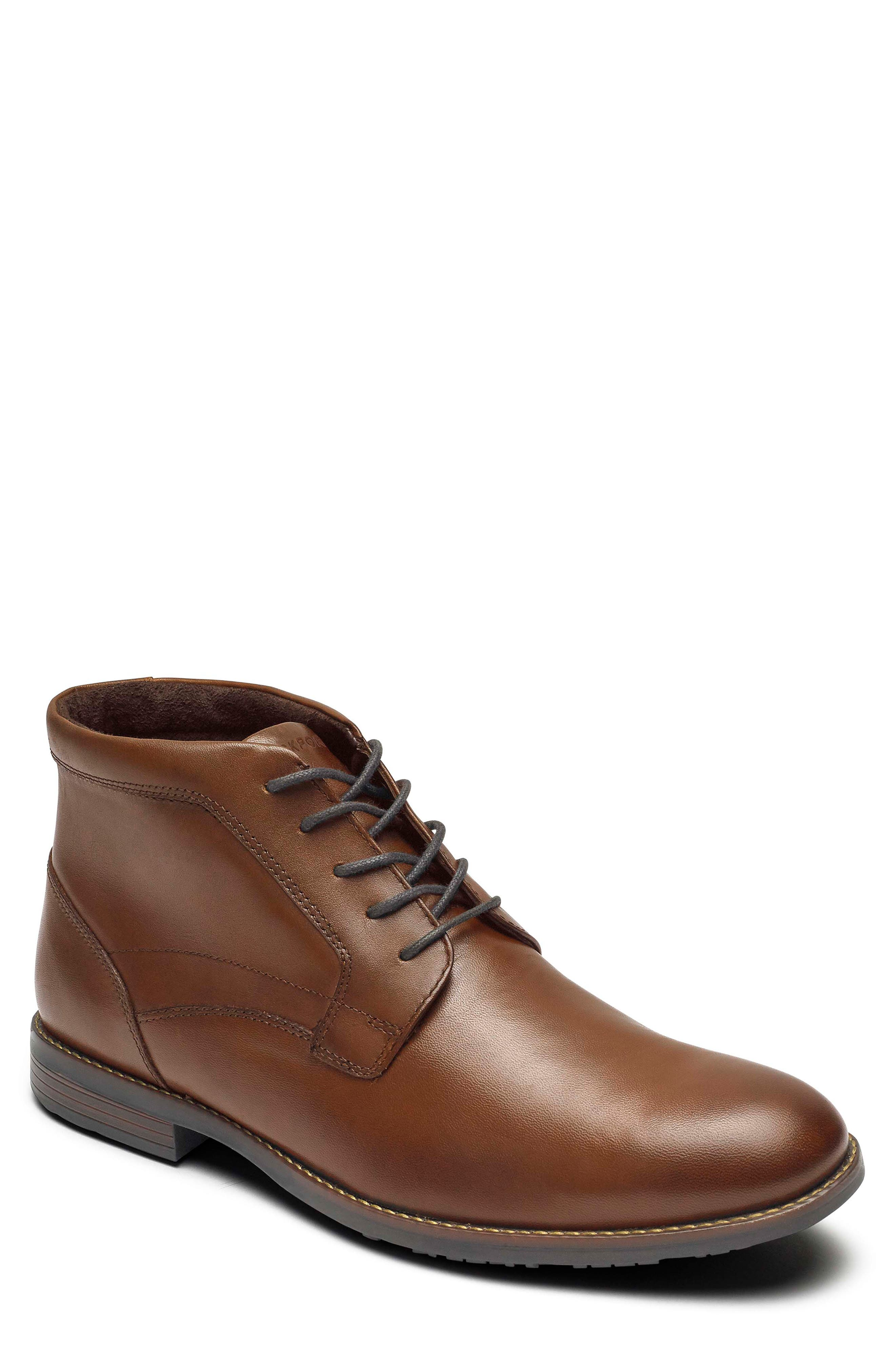 Rockport Dustyn Waterproof Chukka Boot, Brown