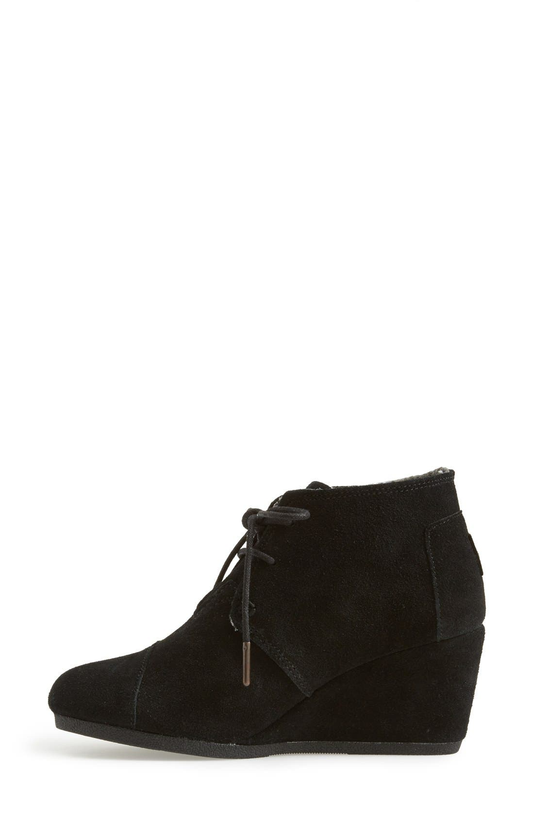 TOMS, 'Desert' Wedge Bootie, Alternate thumbnail 2, color, 001
