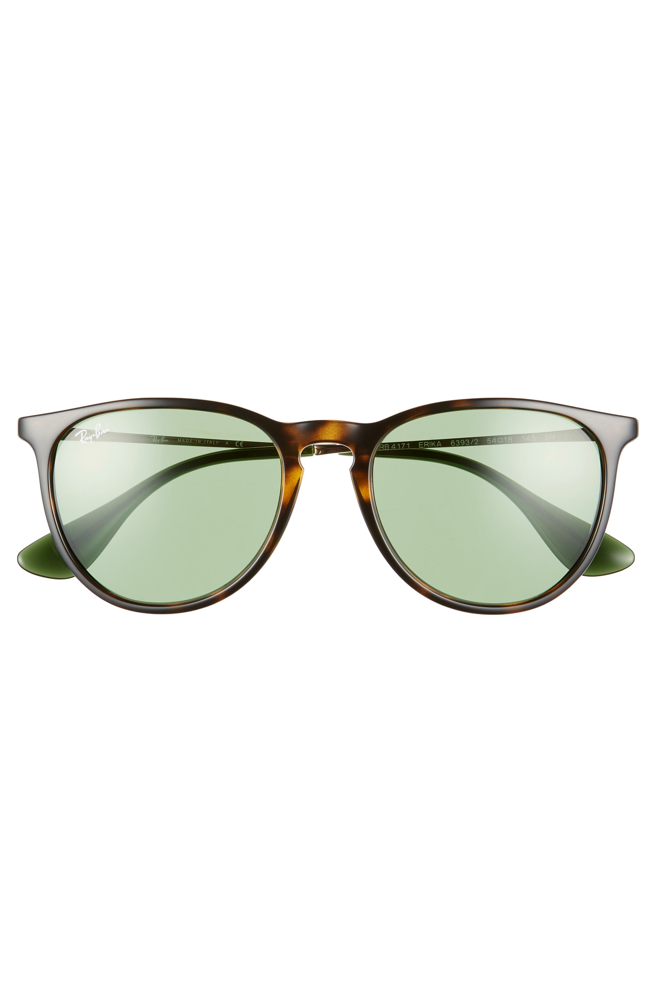 RAY-BAN, Erika Classic 54mm Sunglasses, Alternate thumbnail 3, color, HAVANA/ GREEN SOLID
