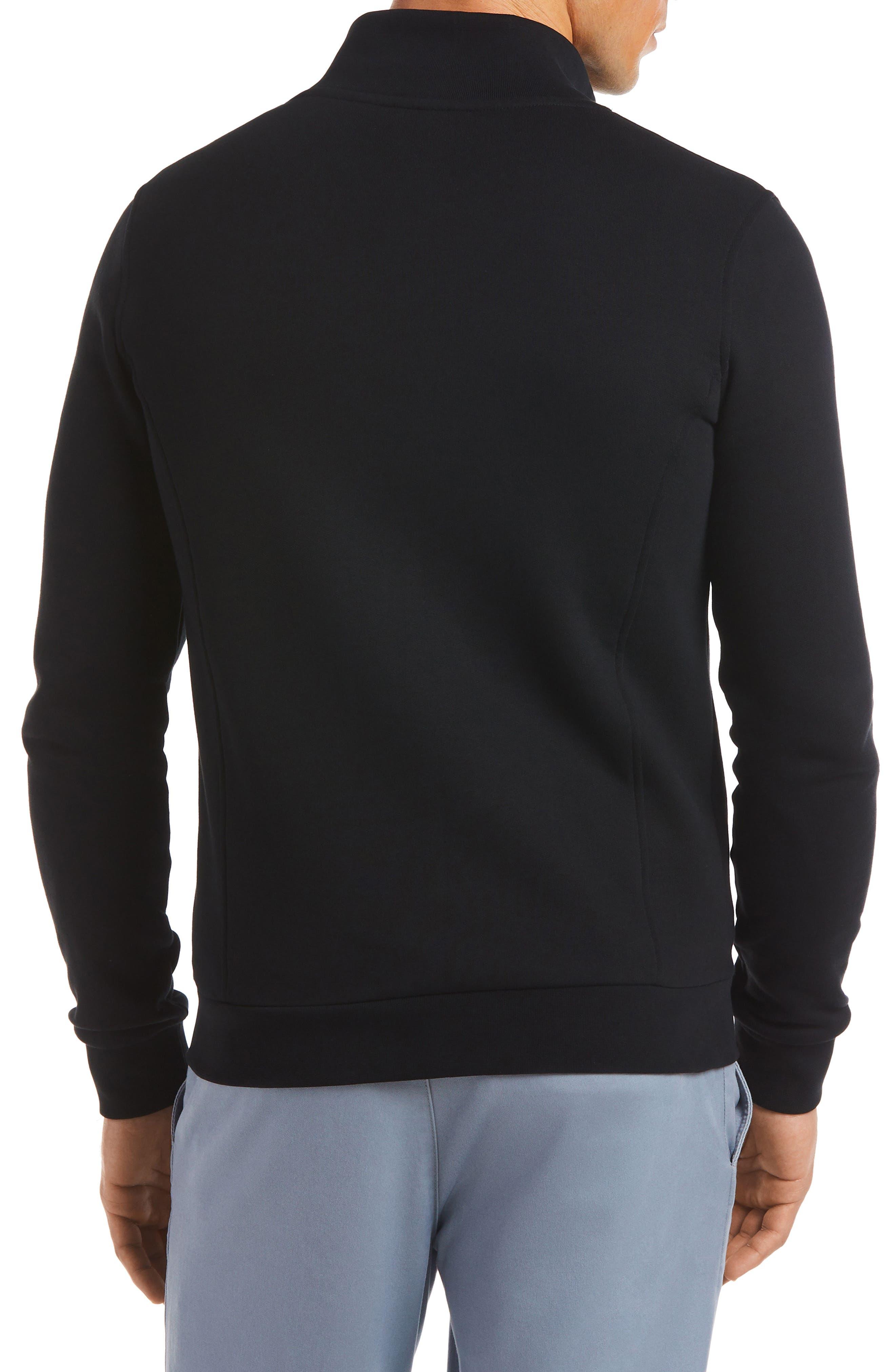 LACOSTE, Fleece Zip Jacket, Alternate thumbnail 2, color, 001