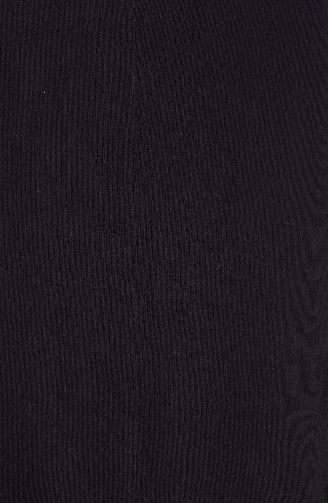 HELMUT LANG, Band Seam Logo Tee, Alternate thumbnail 5, color, BLACK