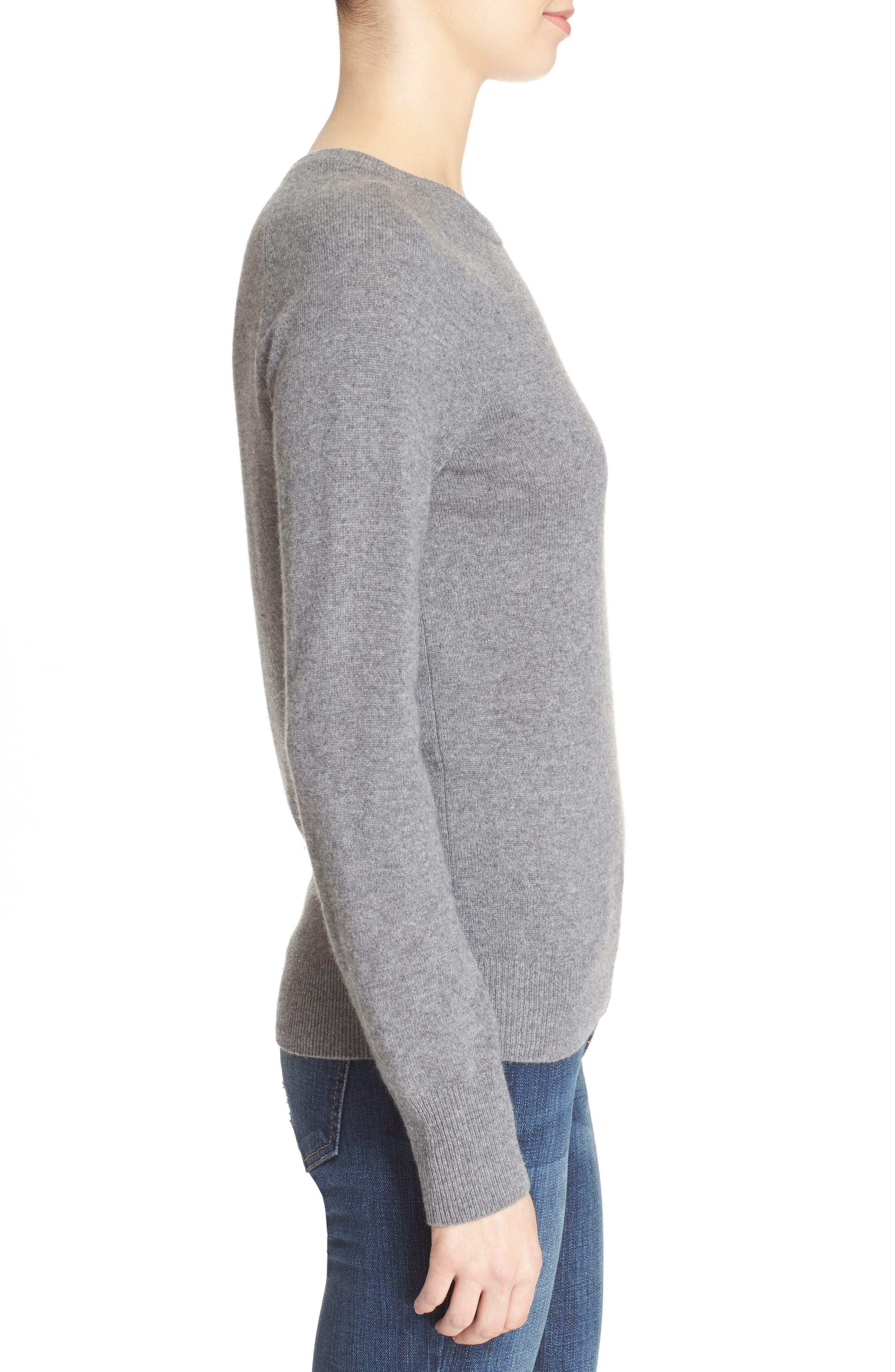 EQUIPMENT, 'Sloane' Crewneck Cashmere Sweater, Alternate thumbnail 3, color, 021