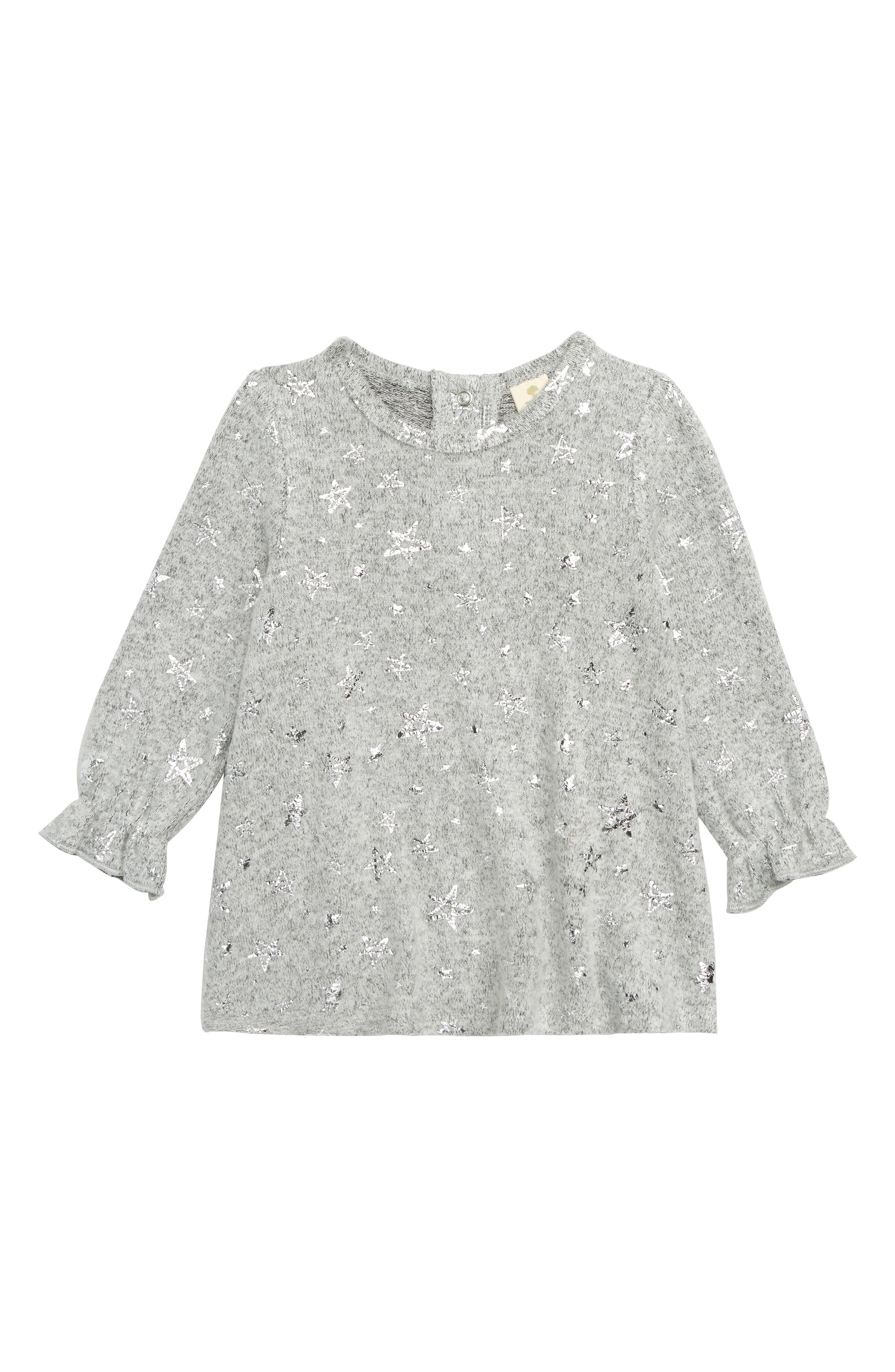 TUCKER + TATE Sparkle Knit Tunic, Main, color, 050