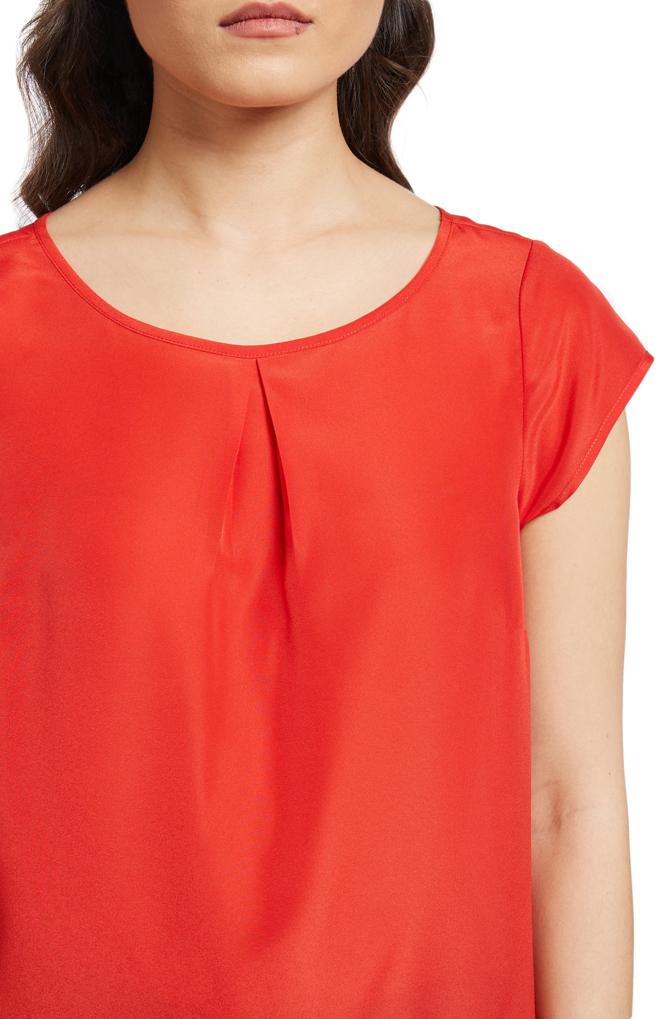 MODCLOTH, Graceful Expectations Top, Alternate thumbnail 4, color, RED SOLID