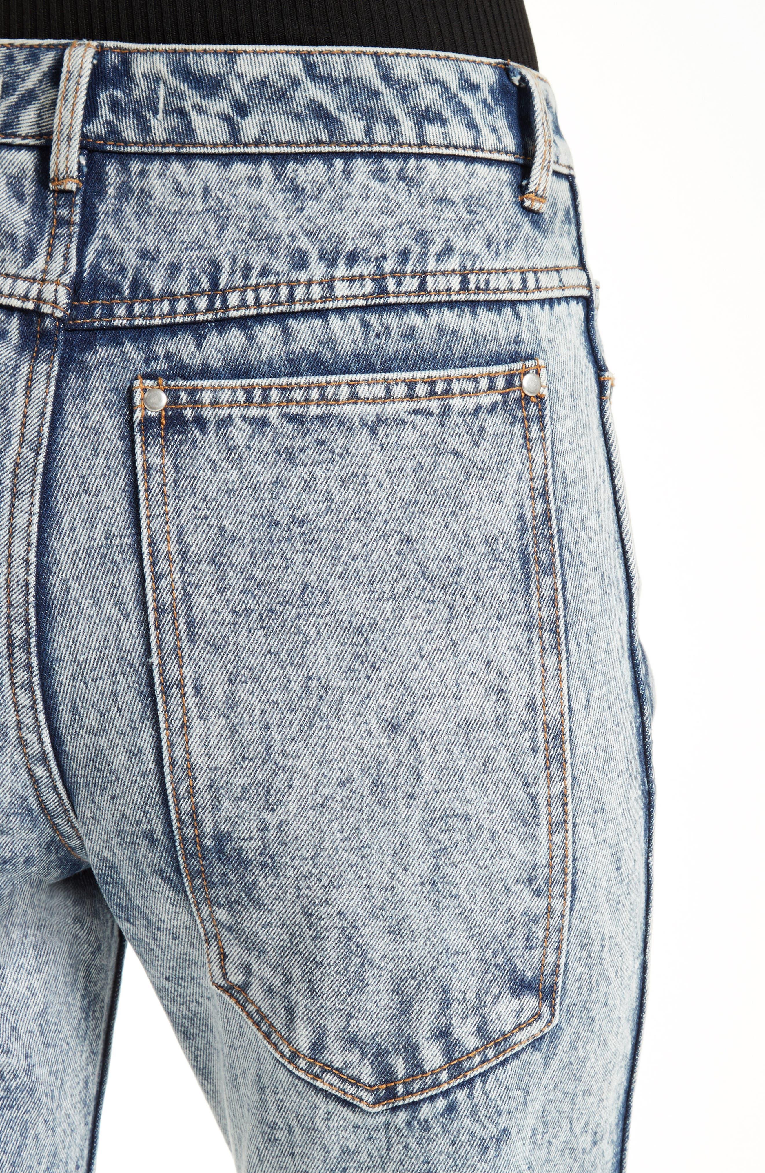 TIBI, Trish Acid Wash Jeans, Alternate thumbnail 4, color, 472