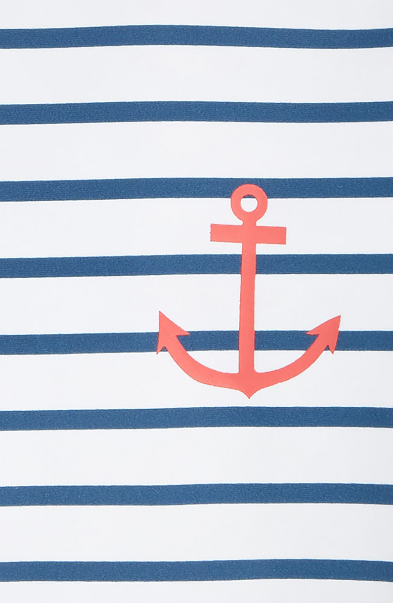 HATLEY, Nautical Stripes One-Piece Rashguard Swimsuit, Alternate thumbnail 2, color, 100