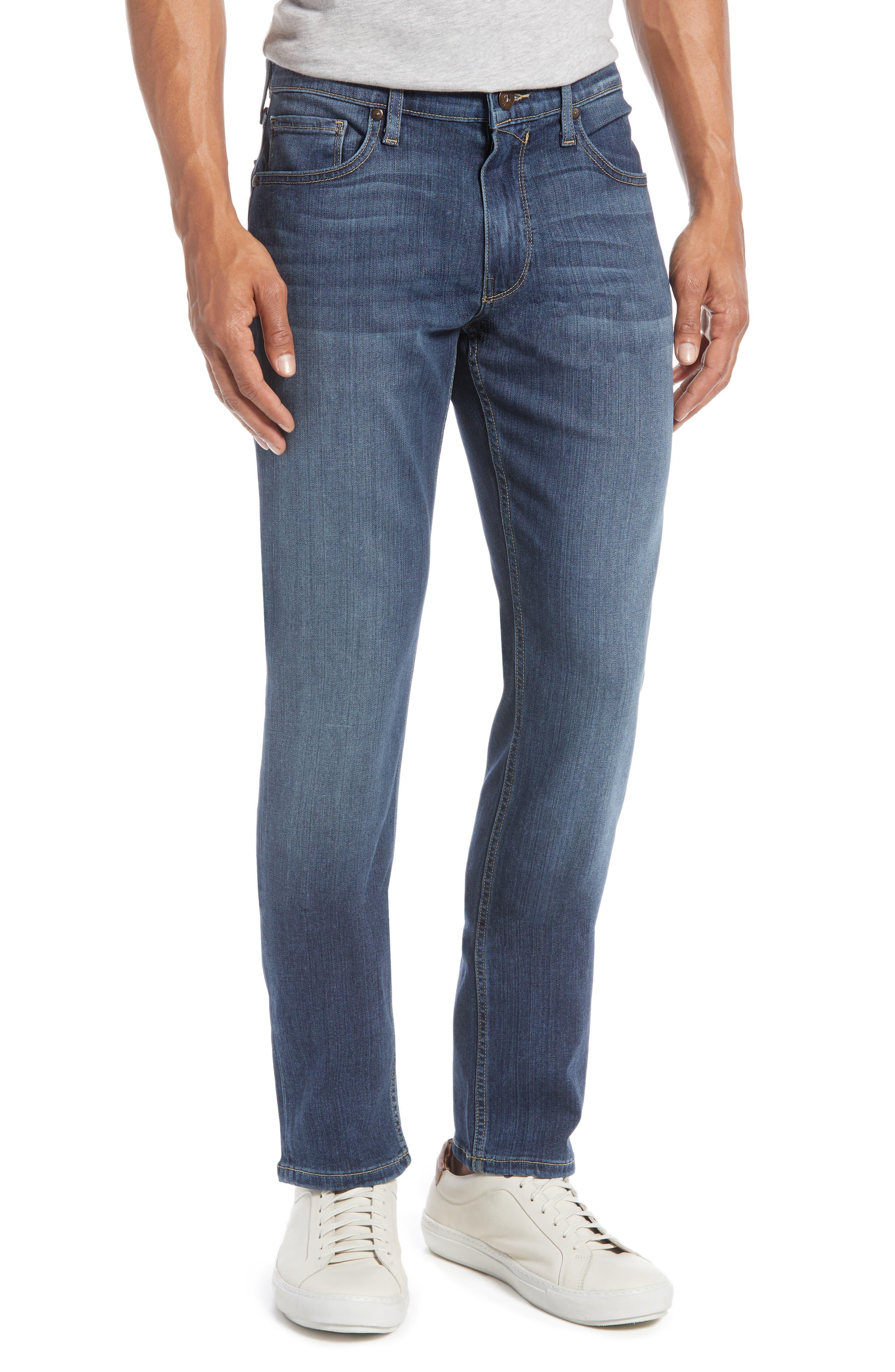 PAIGE, Transcend - Federal Slim Straight Leg Jeans, Alternate thumbnail 2, color, BIRCH